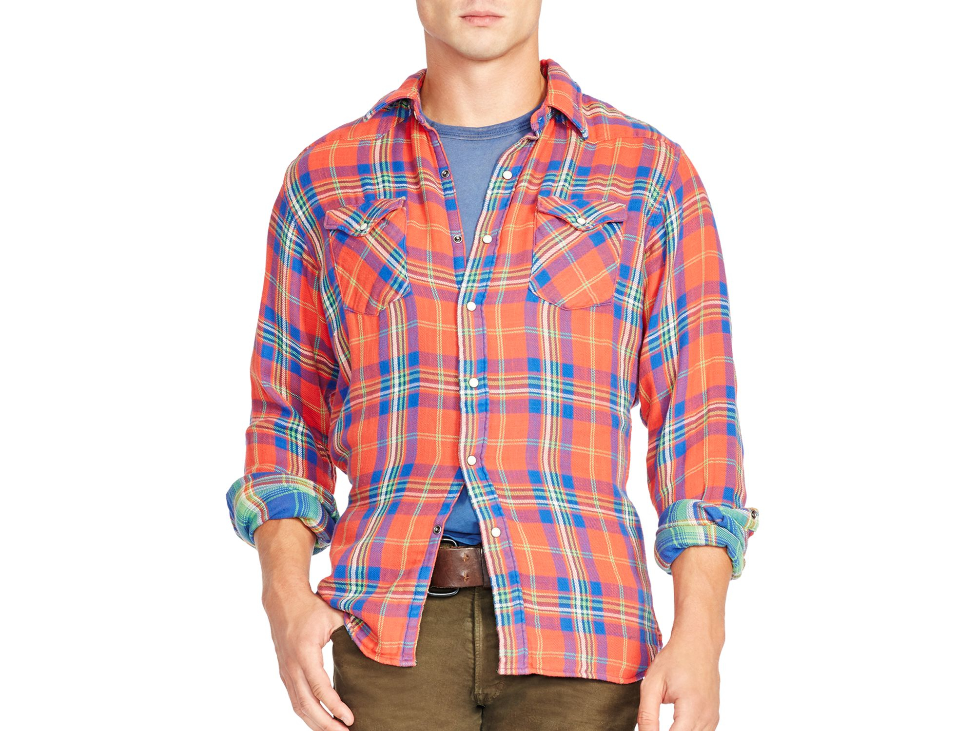 Lyst Ralph Lauren Polo Double Faced Twill Western Casual