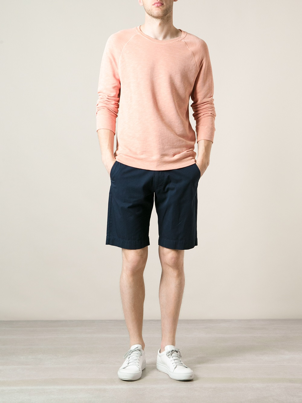 Lyst Sunspel Classic Chino Shorts In Blue For Men