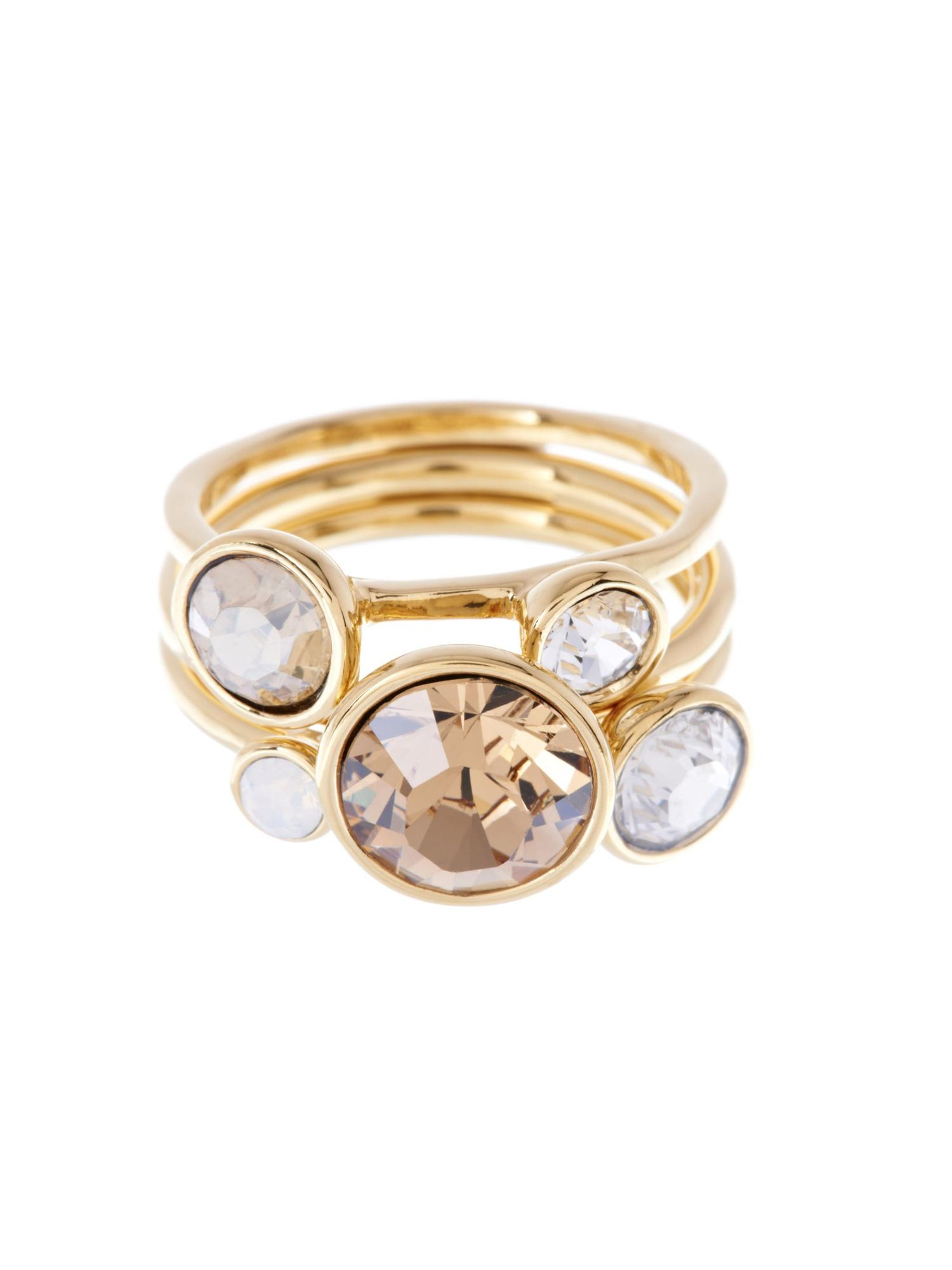Ted Baker Jackie Topaz Jewel Stack Ring In Pink Lyst