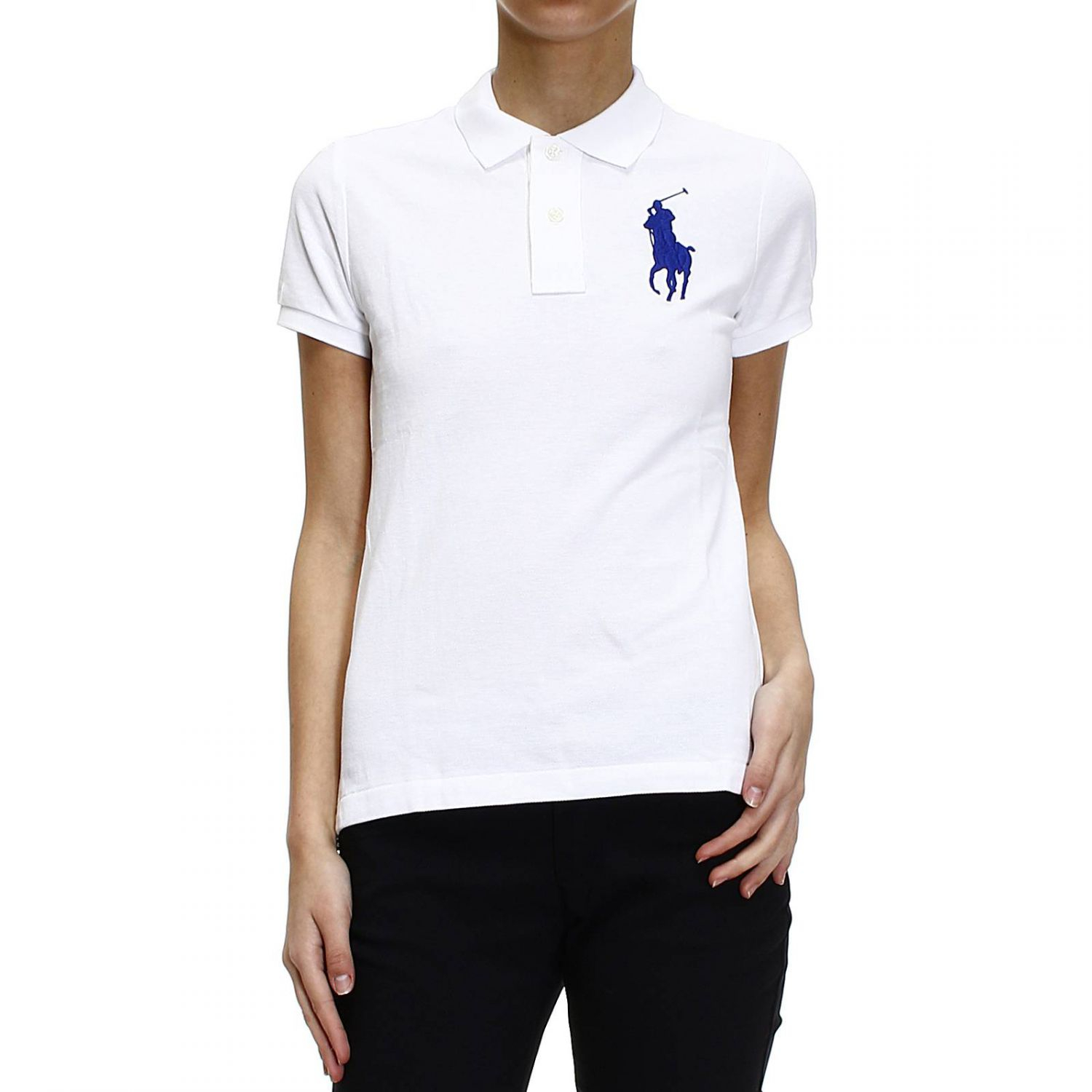 Buy Ralph Lauren Women\u0026#39;s White T-Shirt Polo Half Sleeve Nido D\u0026#39;Ape Big Pony, starting at $79 from Giglio US. Similar products also available. SALE now on!
