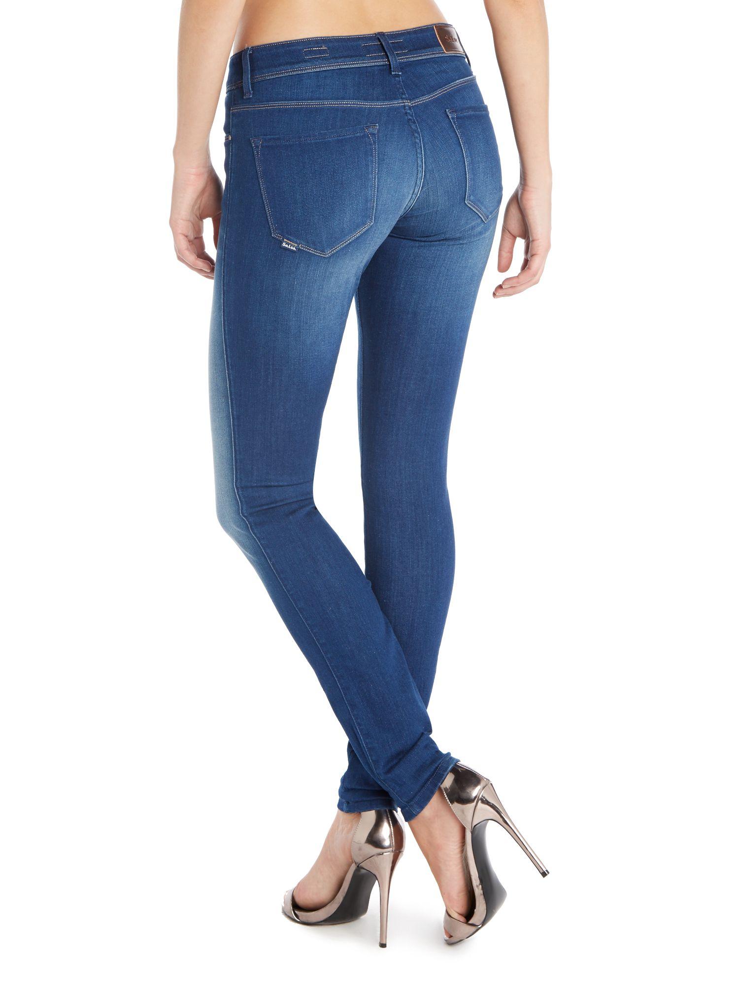 salsa colette comfort skinny jeans in blue lyst. Black Bedroom Furniture Sets. Home Design Ideas