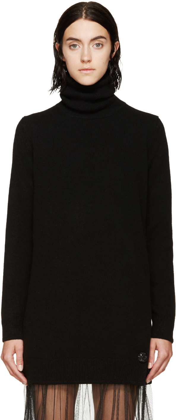 Marc jacobs Black Cashmere Turtleneck Tunic in Black | Lyst