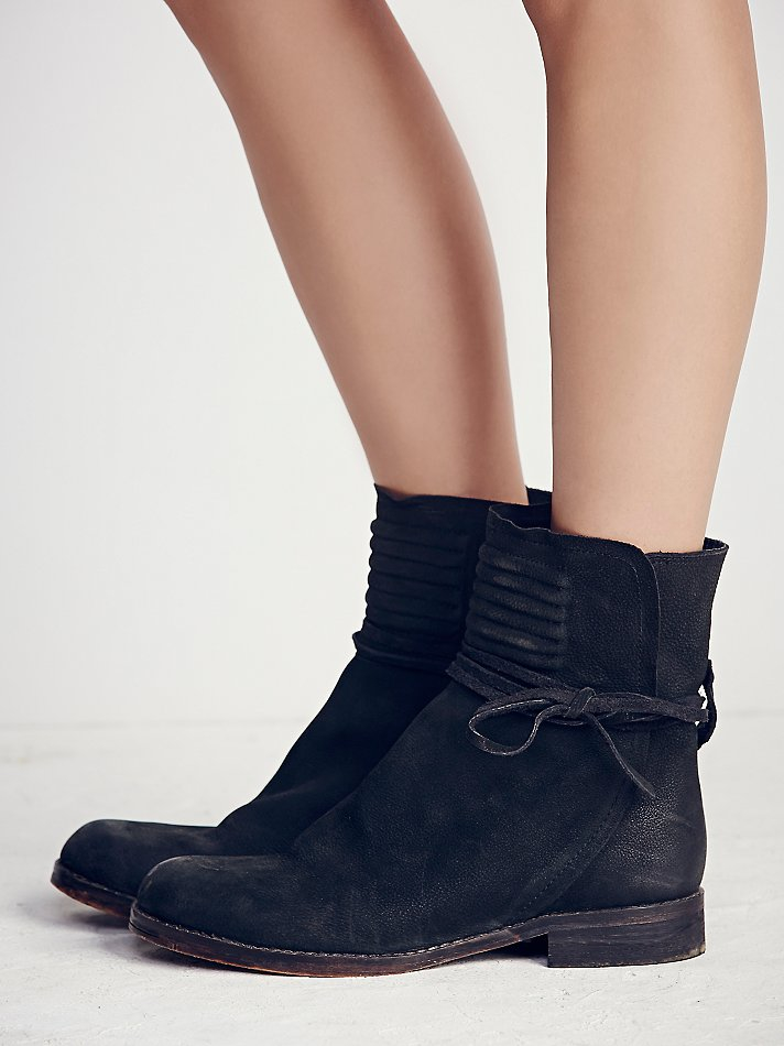 Leather Wrap Ankle Boots - Black Free People anKtc7cAE