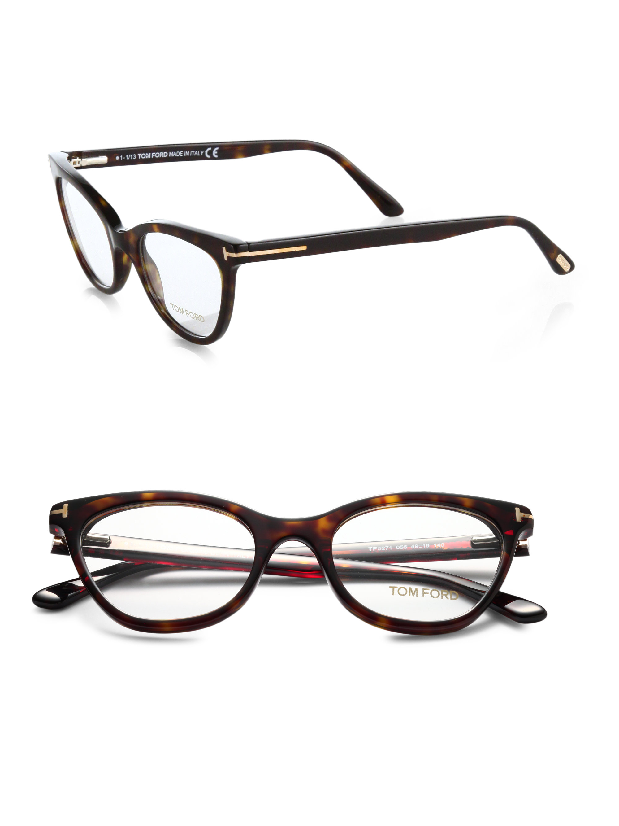 Lyst Tom Ford Cat S Eye Optical Glasses In Black