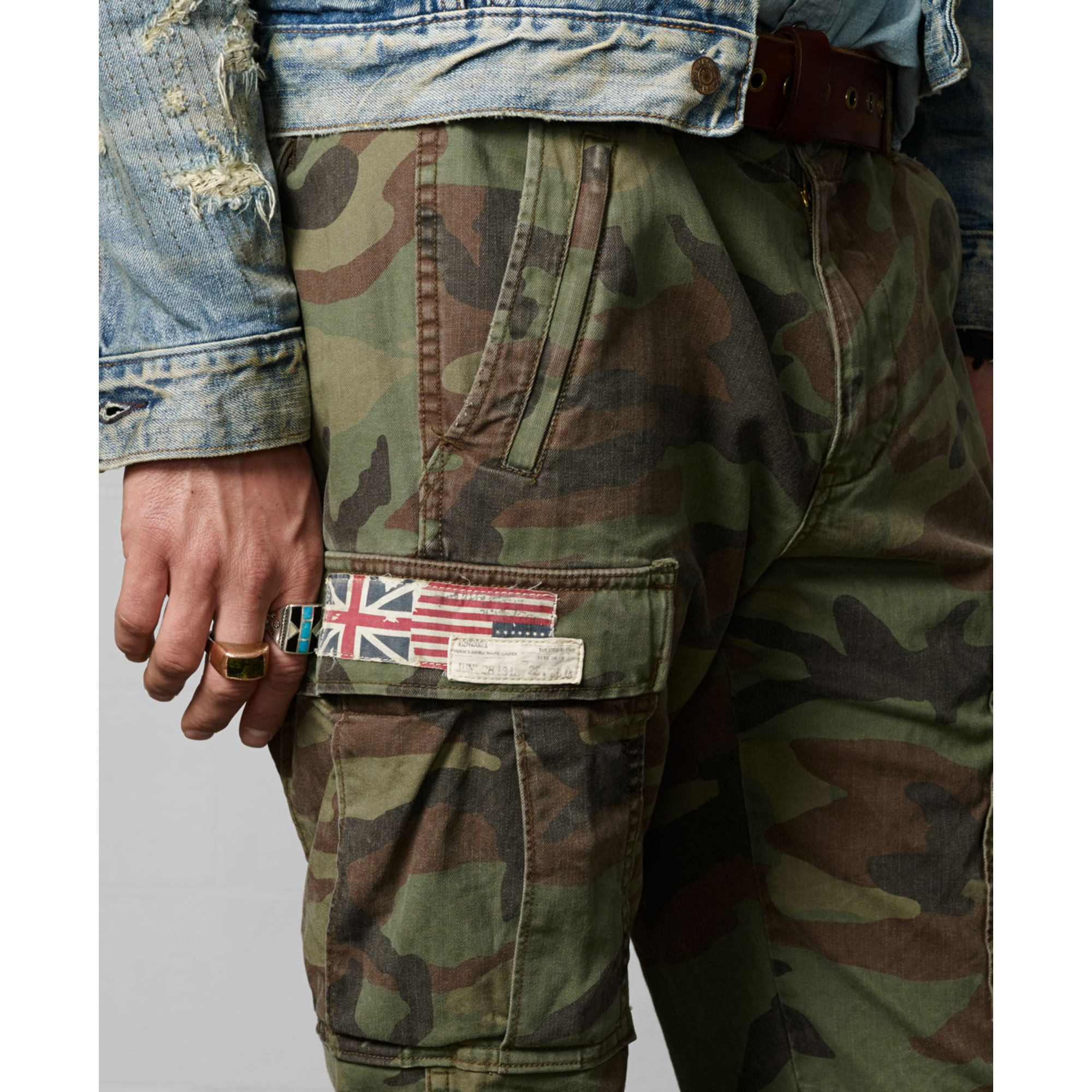 Denim Amp Supply Ralph Lauren Zippocket Cargo Pants In