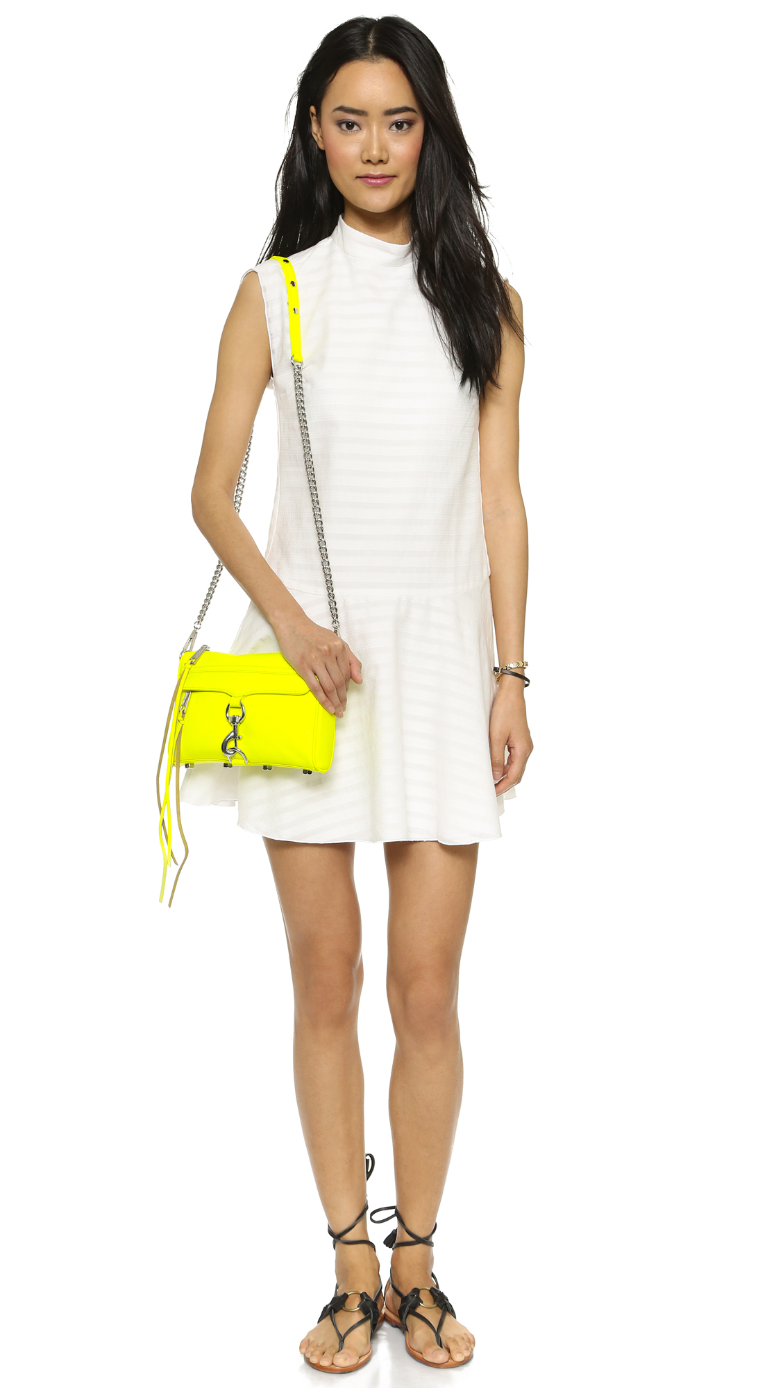 Rebecca Minkoff Mini Mac Cross Body Bag - Electric Yellow