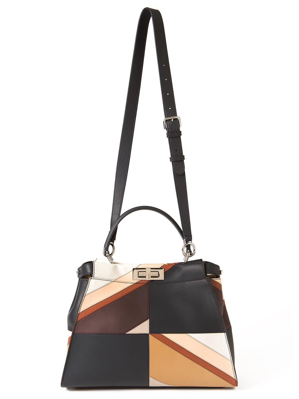 Lyst - Fendi Striped Peekaboo Bag 8026948ecef5a