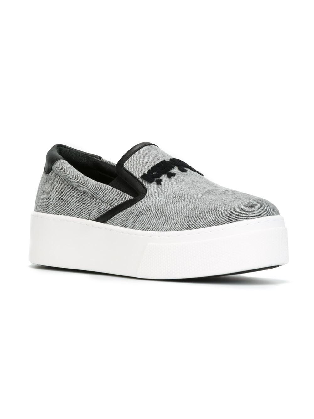 Kenzo Paris Slip On Sneakers In Gray Grey Lyst