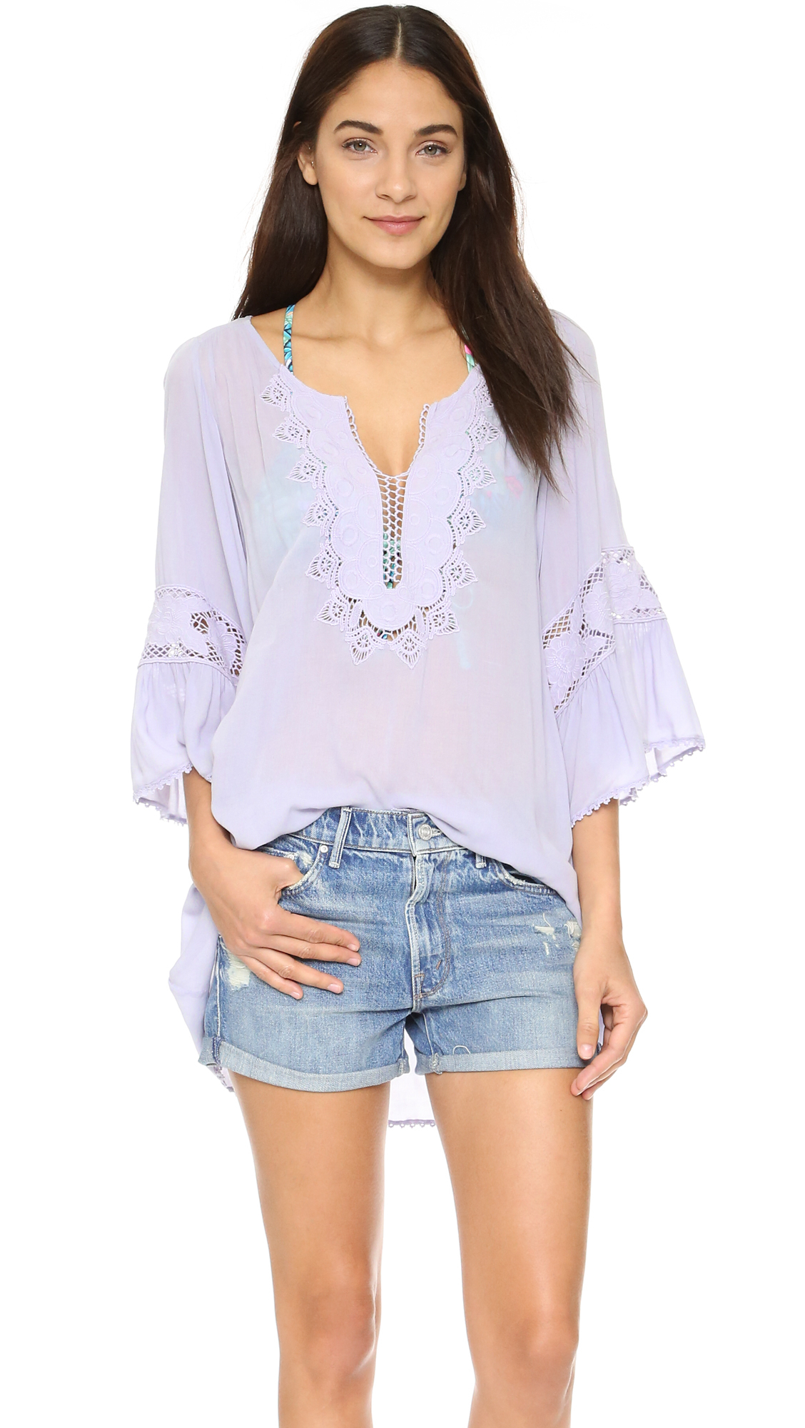 L*Space Breakaway Cover Up Tunic in Ice (Purple)