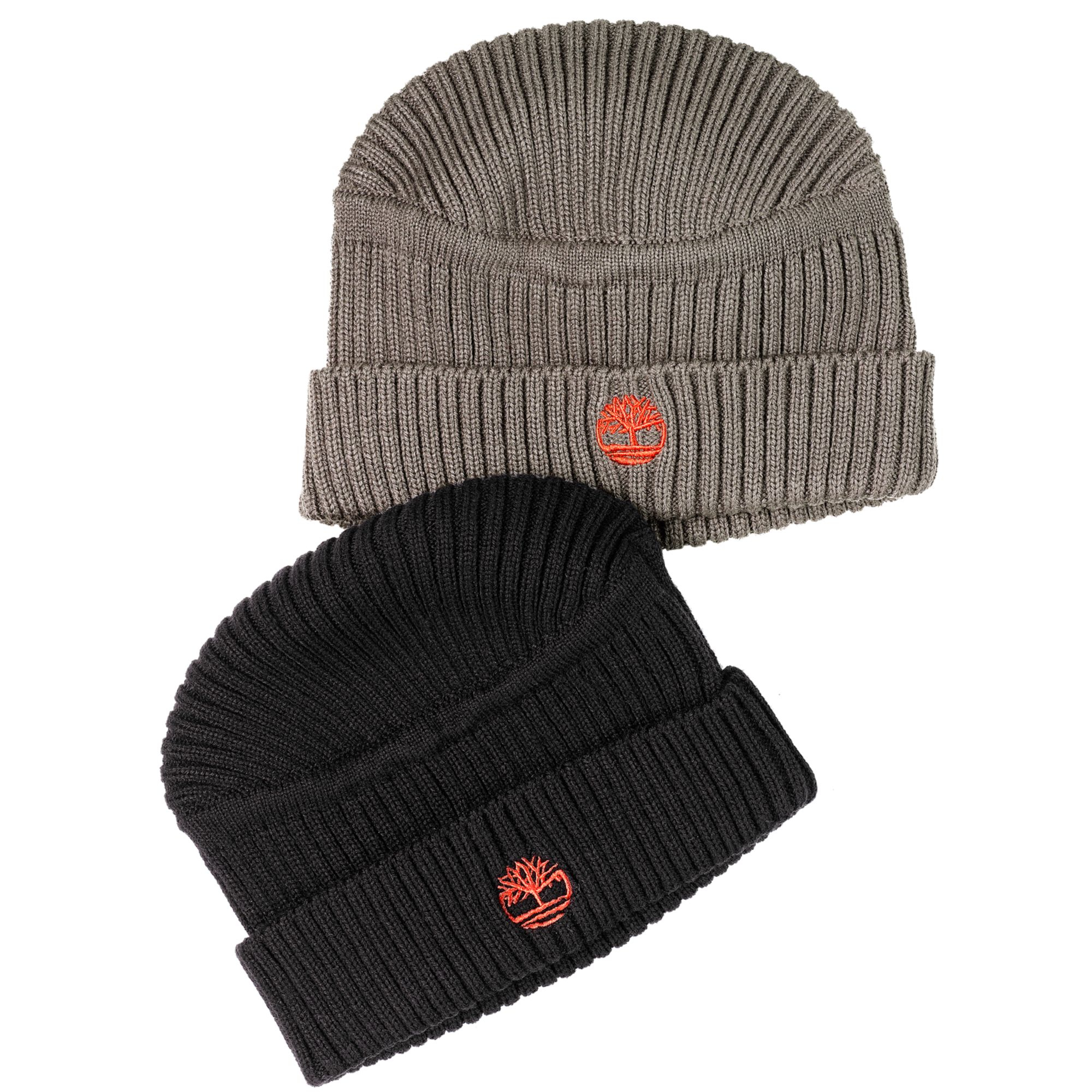 9512f387e Timberland Gray Ribbed Flattop Beanie for men