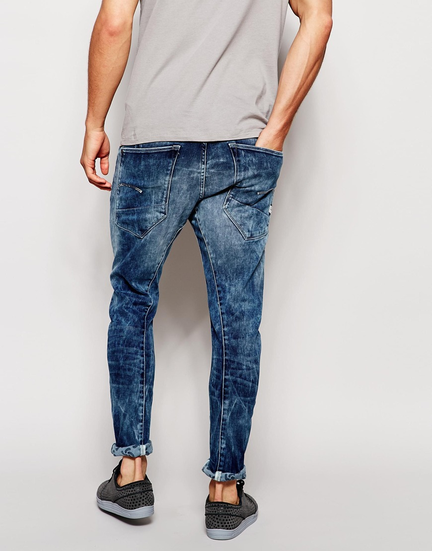 Lyst g star raw for the oceans jeans type c 3d skinny for Types of denim shirts