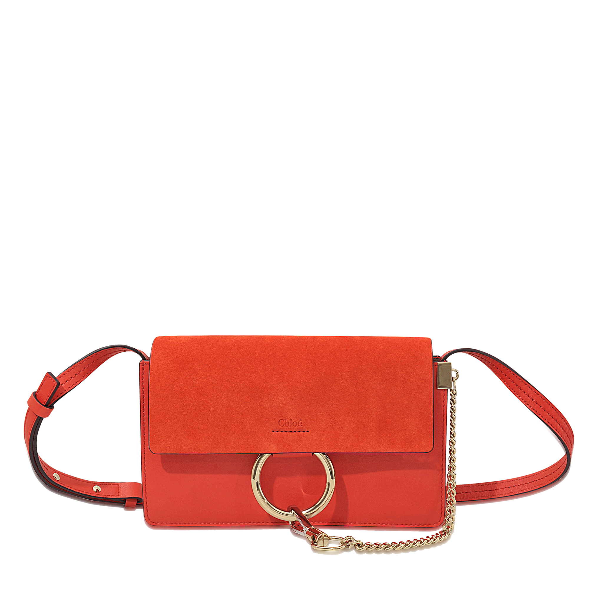 563416e6 Chloé Red Faye Leather Cross-Body Bag
