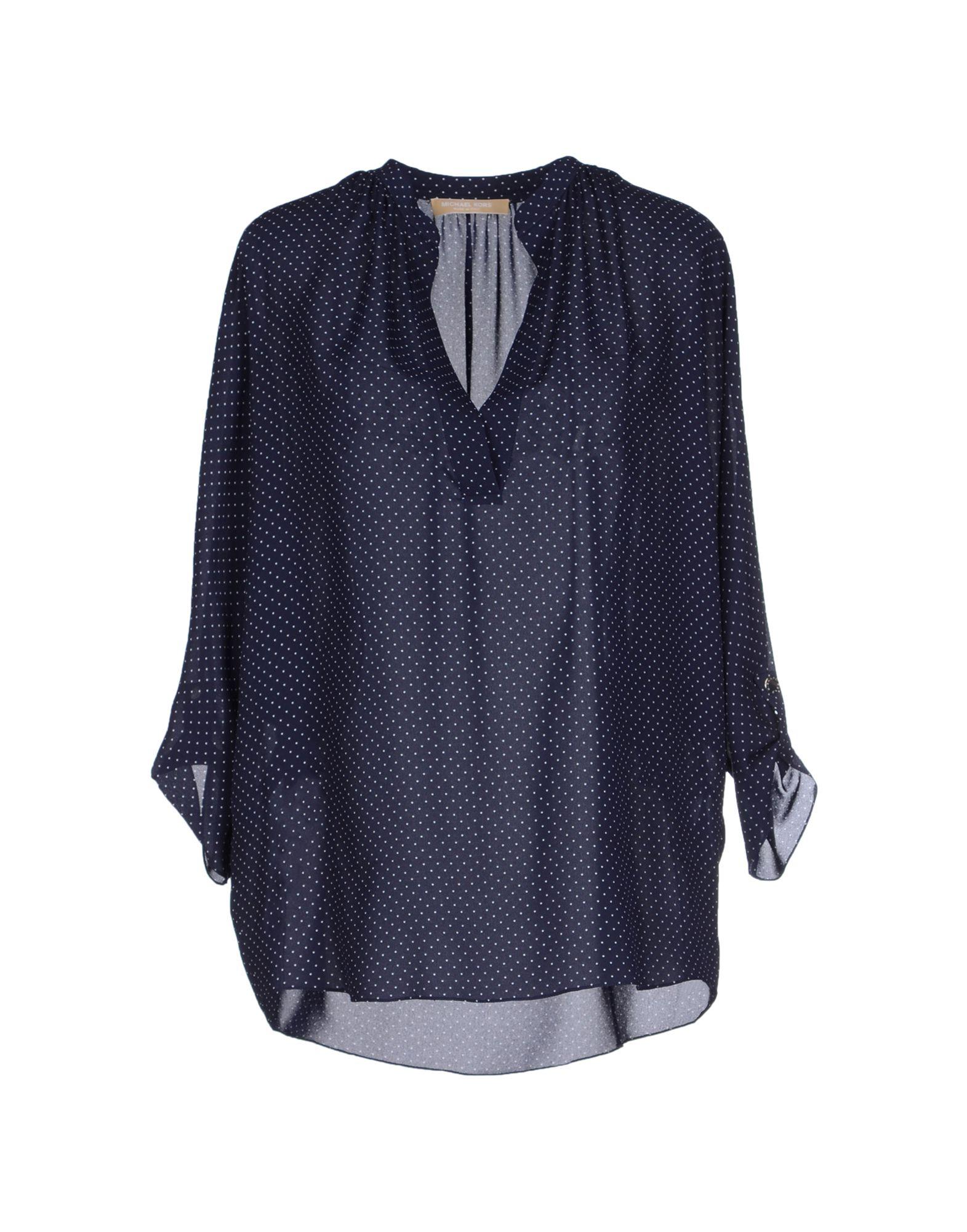 michael kors blouse in blue dark blue lyst. Black Bedroom Furniture Sets. Home Design Ideas
