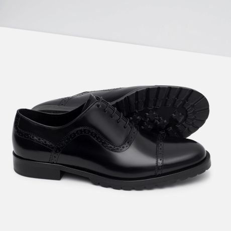 Brilliant Zara Formal Leather Oxford Shoe In Brown For Men  Lyst