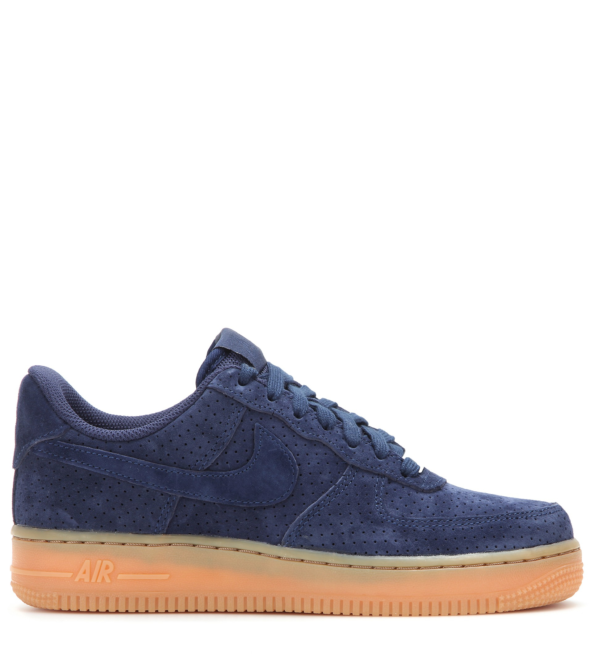 lyst nike air force 1 suede sneakers in blue. Black Bedroom Furniture Sets. Home Design Ideas