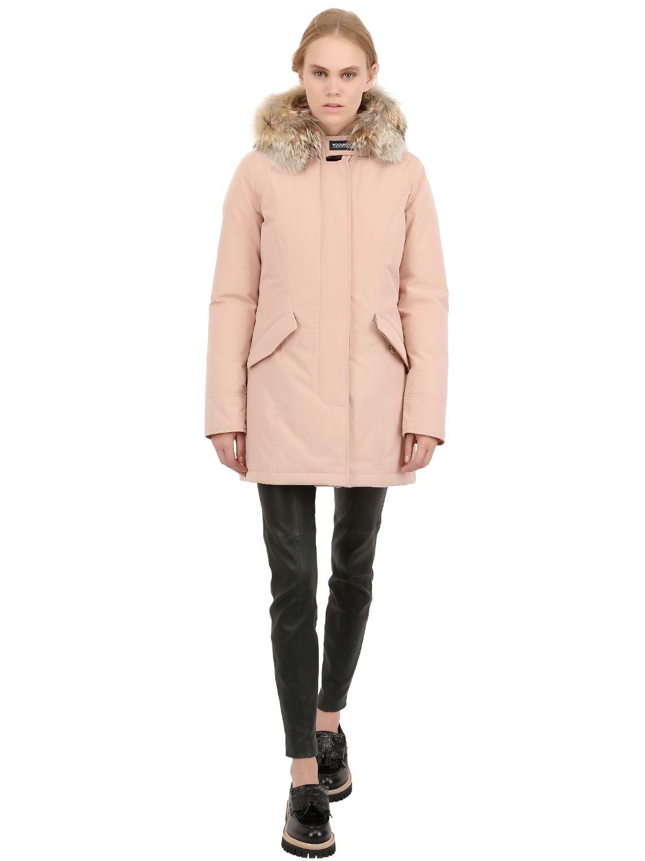 hot sale online 74de8 6afd1 Woolrich Pink Byrd Cloth Woman'S Arctic Parka