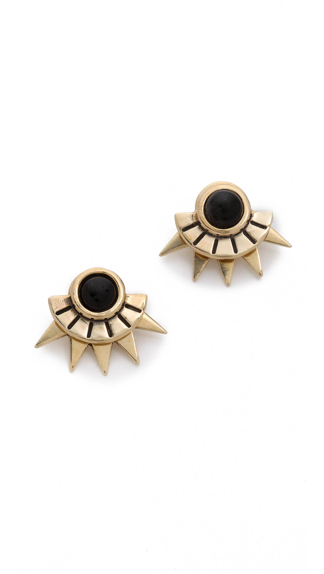 Pamela Love Sun Ray Stud Earrings In Metallic Lyst