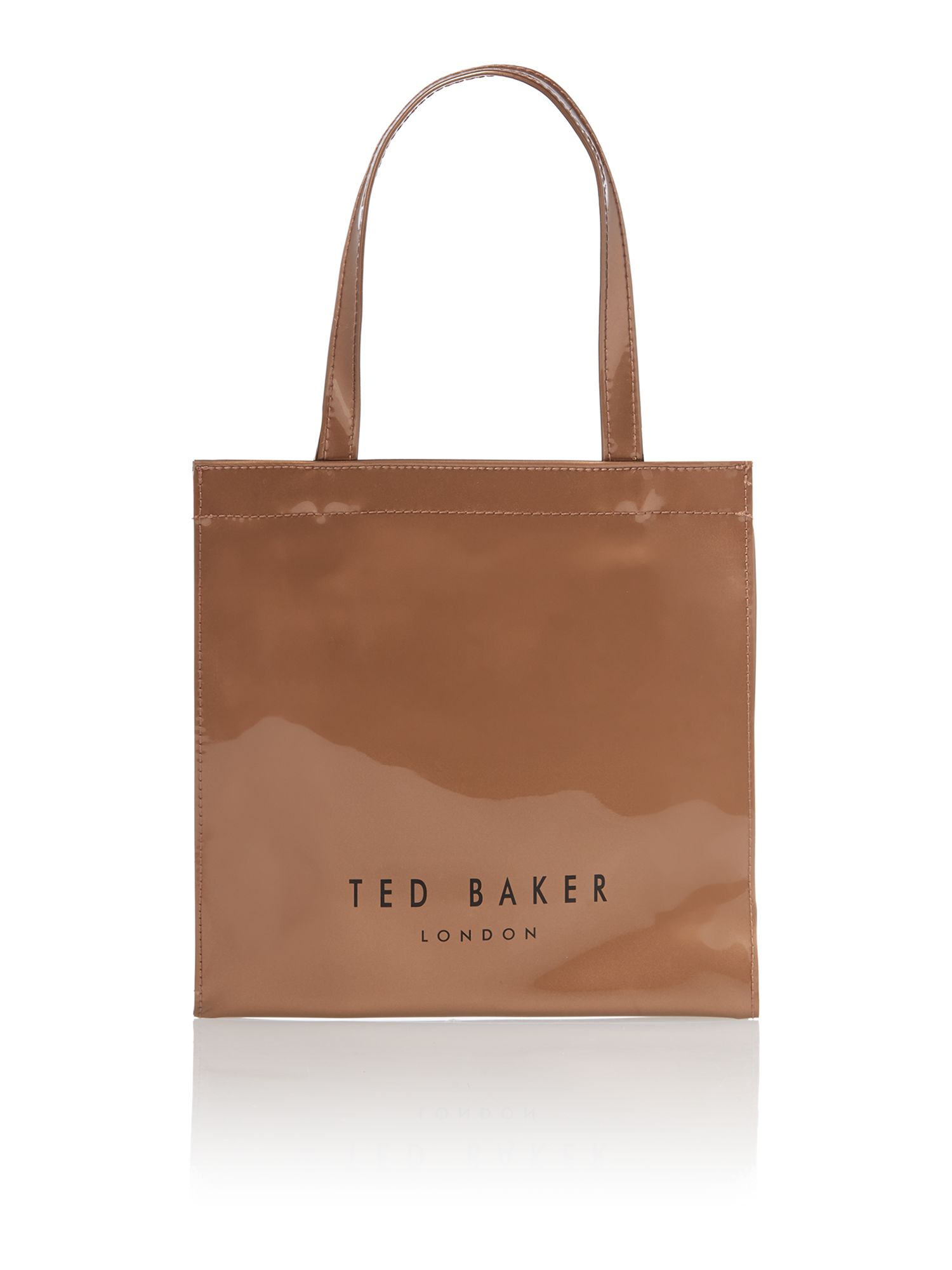 Ted Baker Rose Gold Small Bowcon Tote Bag in Brown