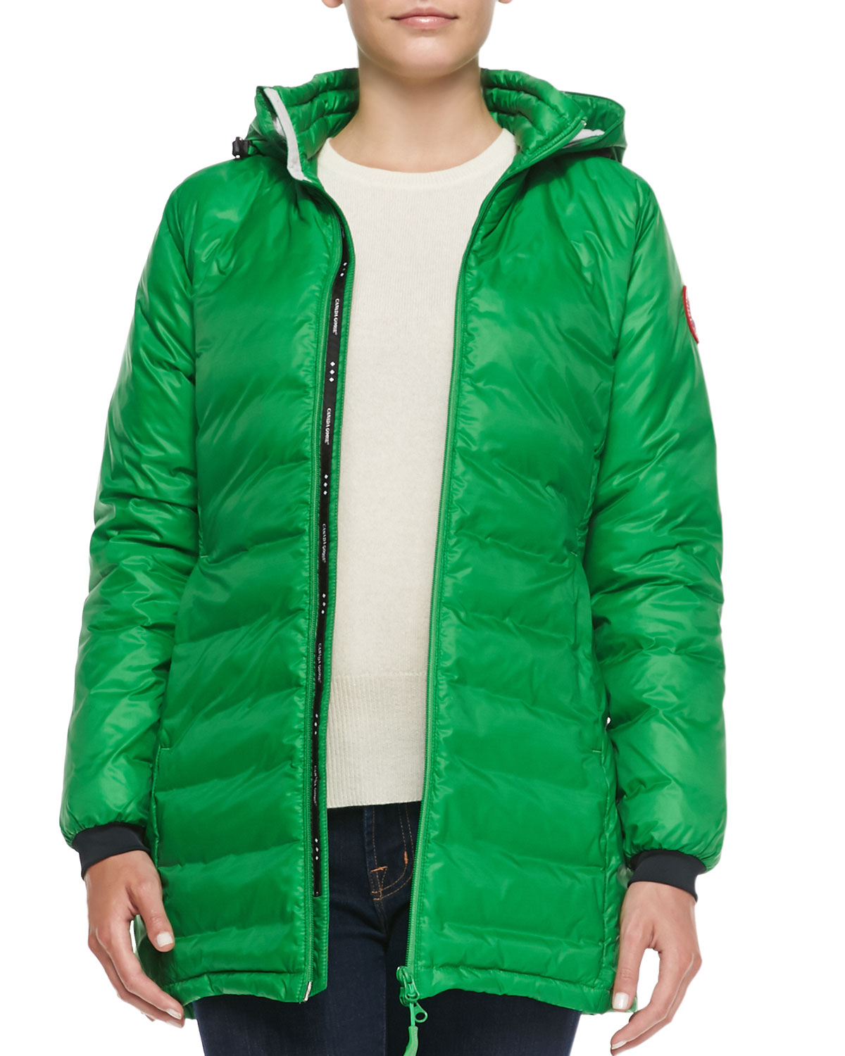 Canada Goose chateau parka sale discounts - Canada goose Camp Hooded Mid-length Puffer Coat in Green (JADE ...