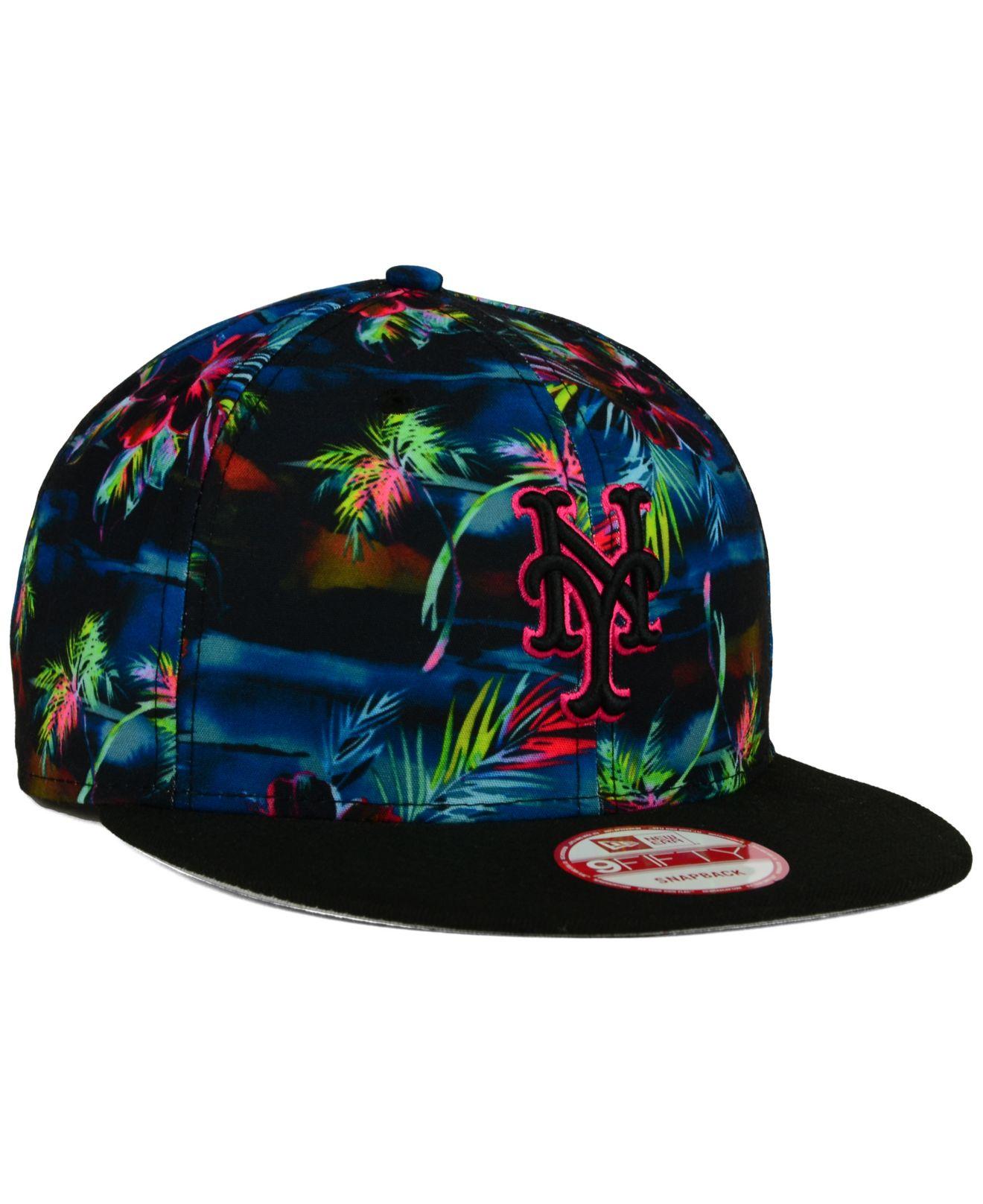 cheap for discount 8260e 3a497 ... wholesale lyst ktz new york mets dark tropic 9fifty snapback cap for  men 19e6a 33cb1