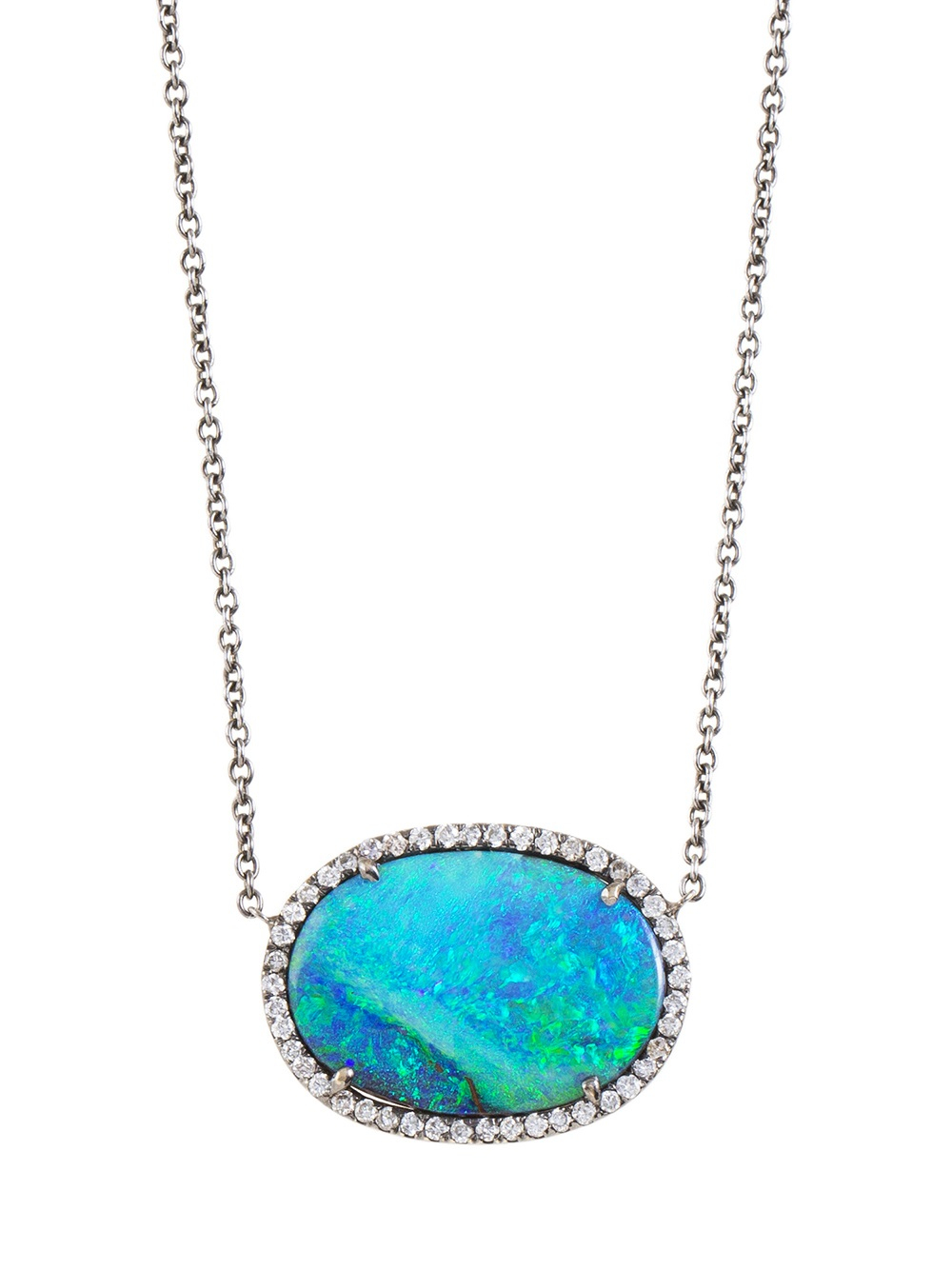 Lyst Kimberly Mcdonald Opal Pendant Necklace In Blue