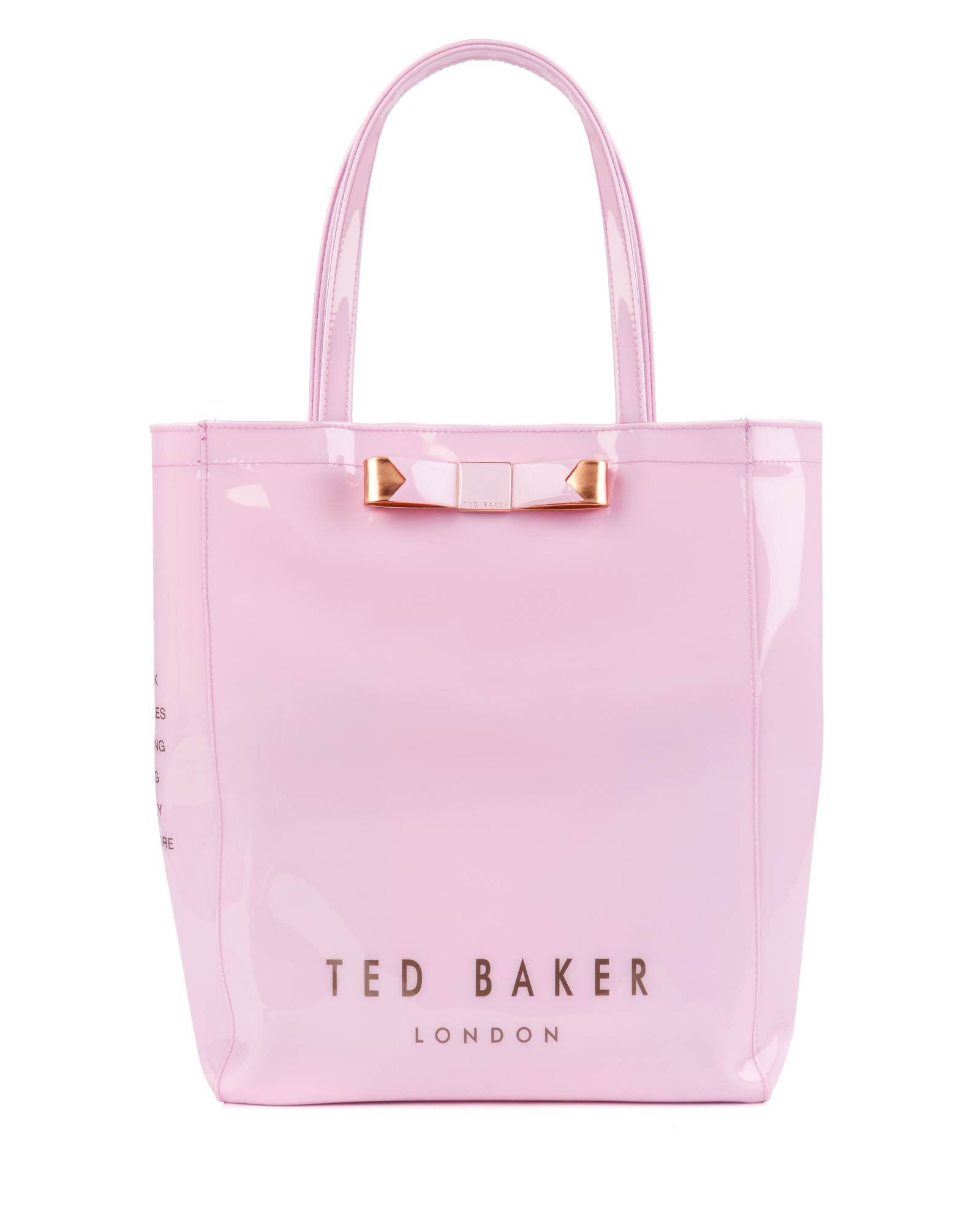ted baker bow shopper bag in pink dusky pink lyst. Black Bedroom Furniture Sets. Home Design Ideas