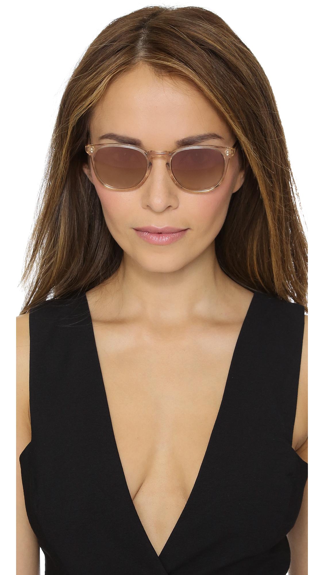 Oliver Peoples Finley Esq. Sunglasses - Blush/rose Quartz Mirror in Pink