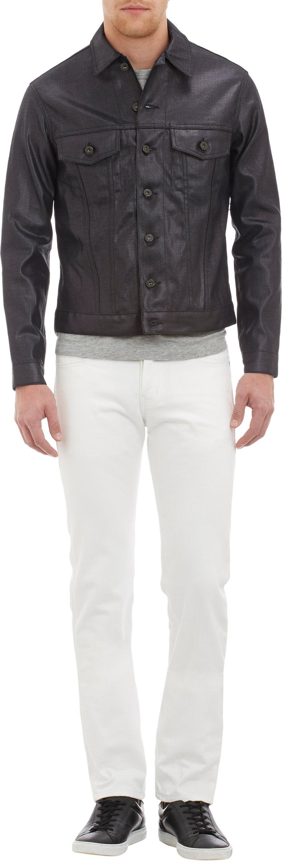 Naked /& Famous Denim Mens Slim-Fit Denim Jacket