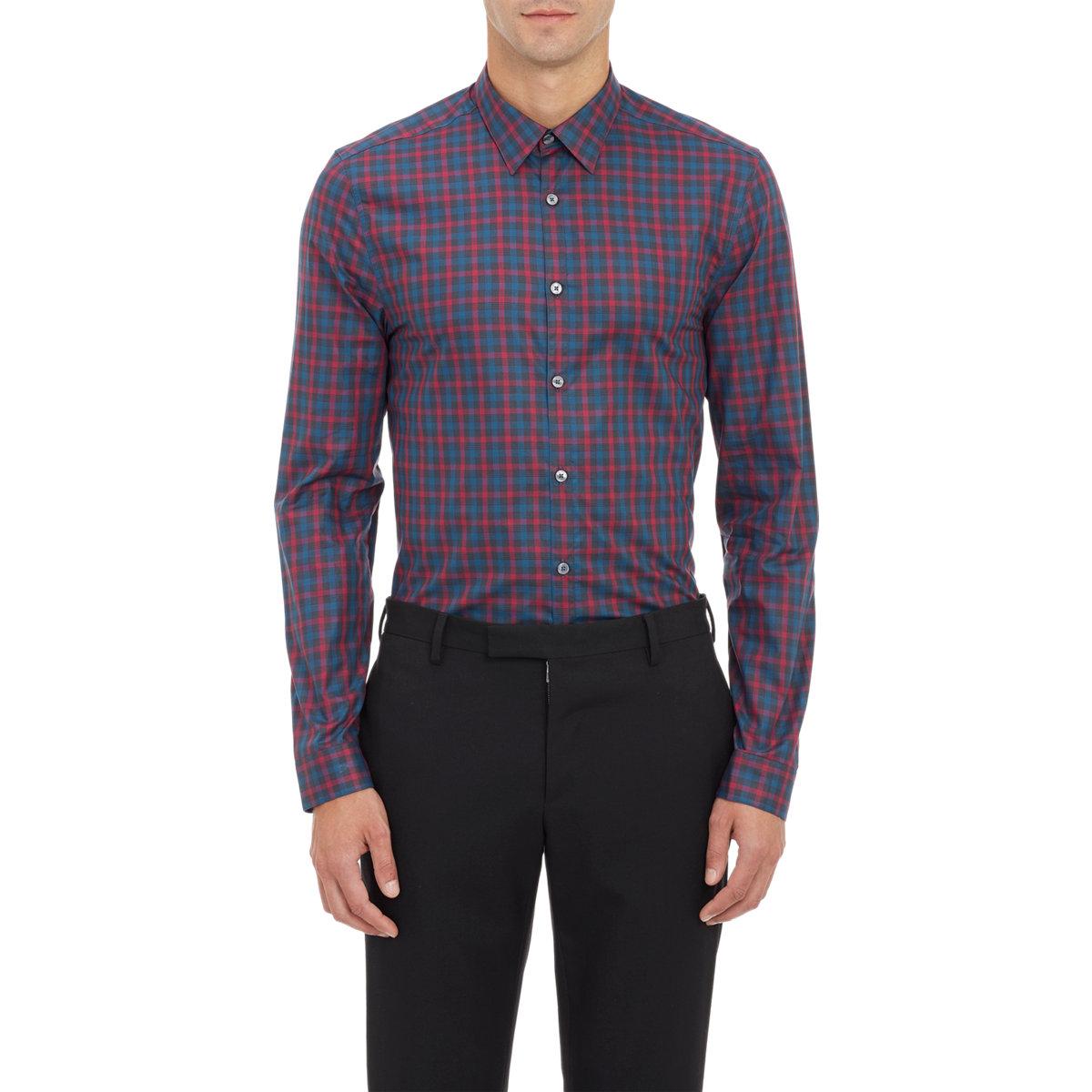 Paul smith Plaid Poplin Dress Shirt in Purple for Men ...