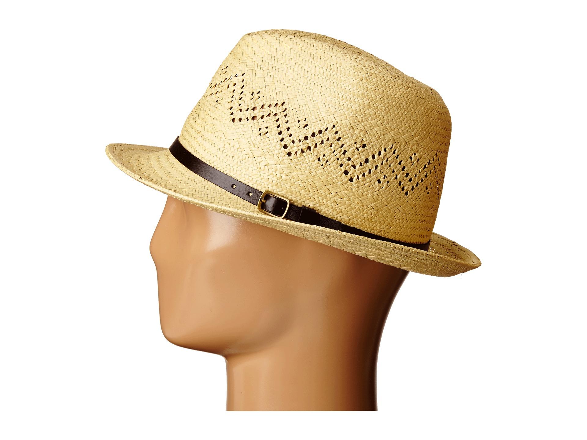 Brixton Castor Fedora Straw Hat in Natural for Men - Lyst