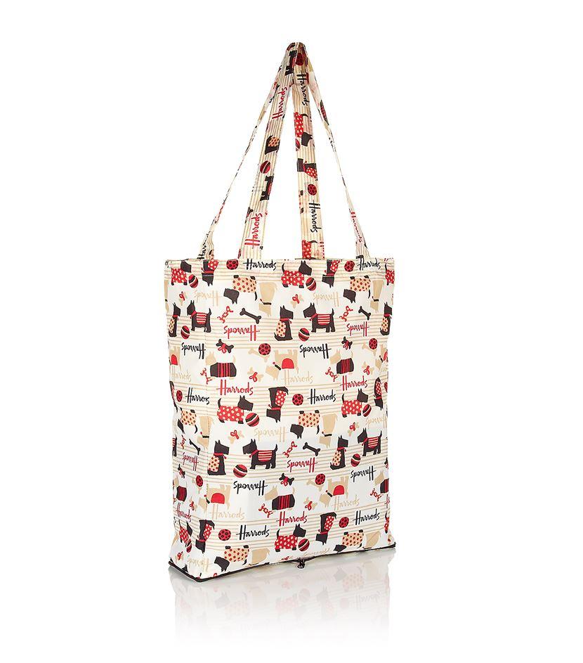 Harrods Scottie Dog Pocket Shopper Bag in Multicolor   Lyst