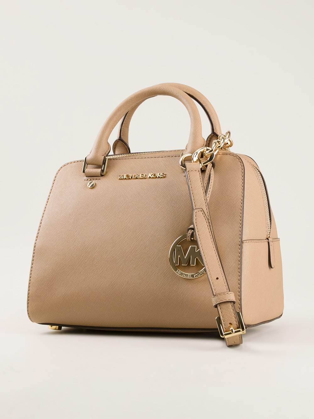 4fb0d7c8a811 ... where to buy lyst michael michael kors small tote bag in brown 150ec  f1937