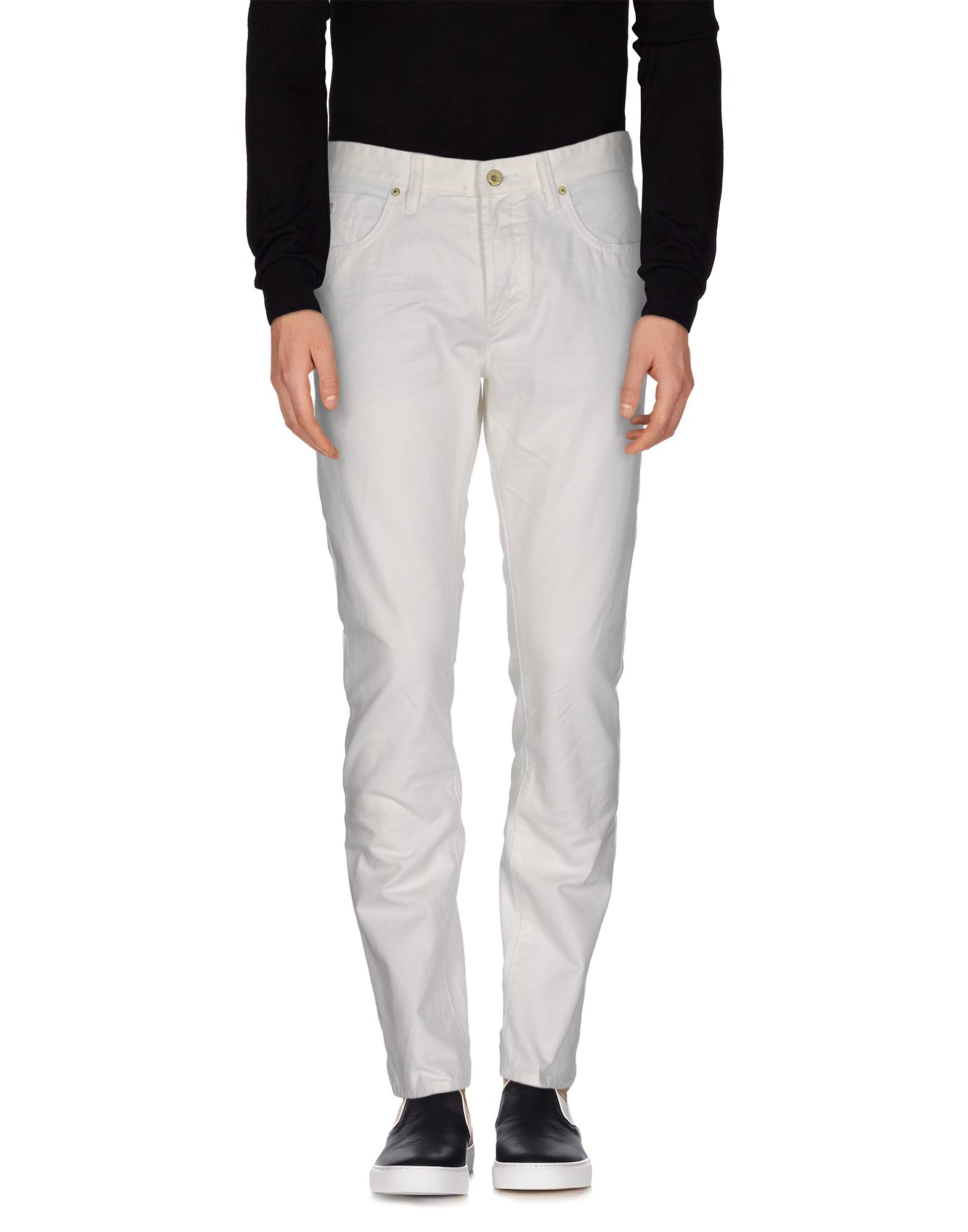 scotch soda denim trousers in white for men lyst. Black Bedroom Furniture Sets. Home Design Ideas