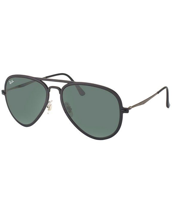 Ray-ban Light Ray Rb 4211 601s71 Matte Black Nylon Aviator Plastic
