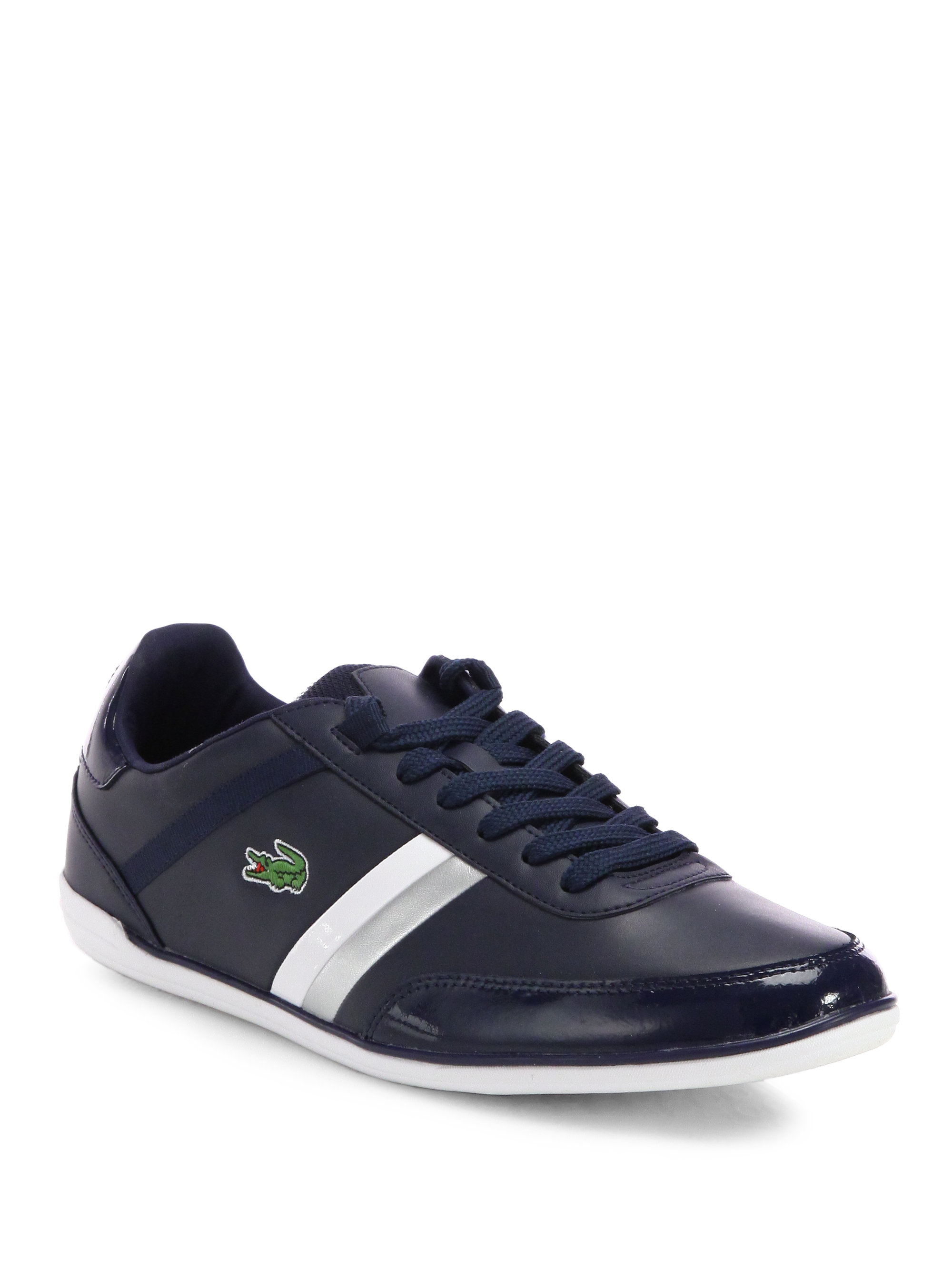 lacoste giron doublestripe sneakers in blue for men lyst. Black Bedroom Furniture Sets. Home Design Ideas
