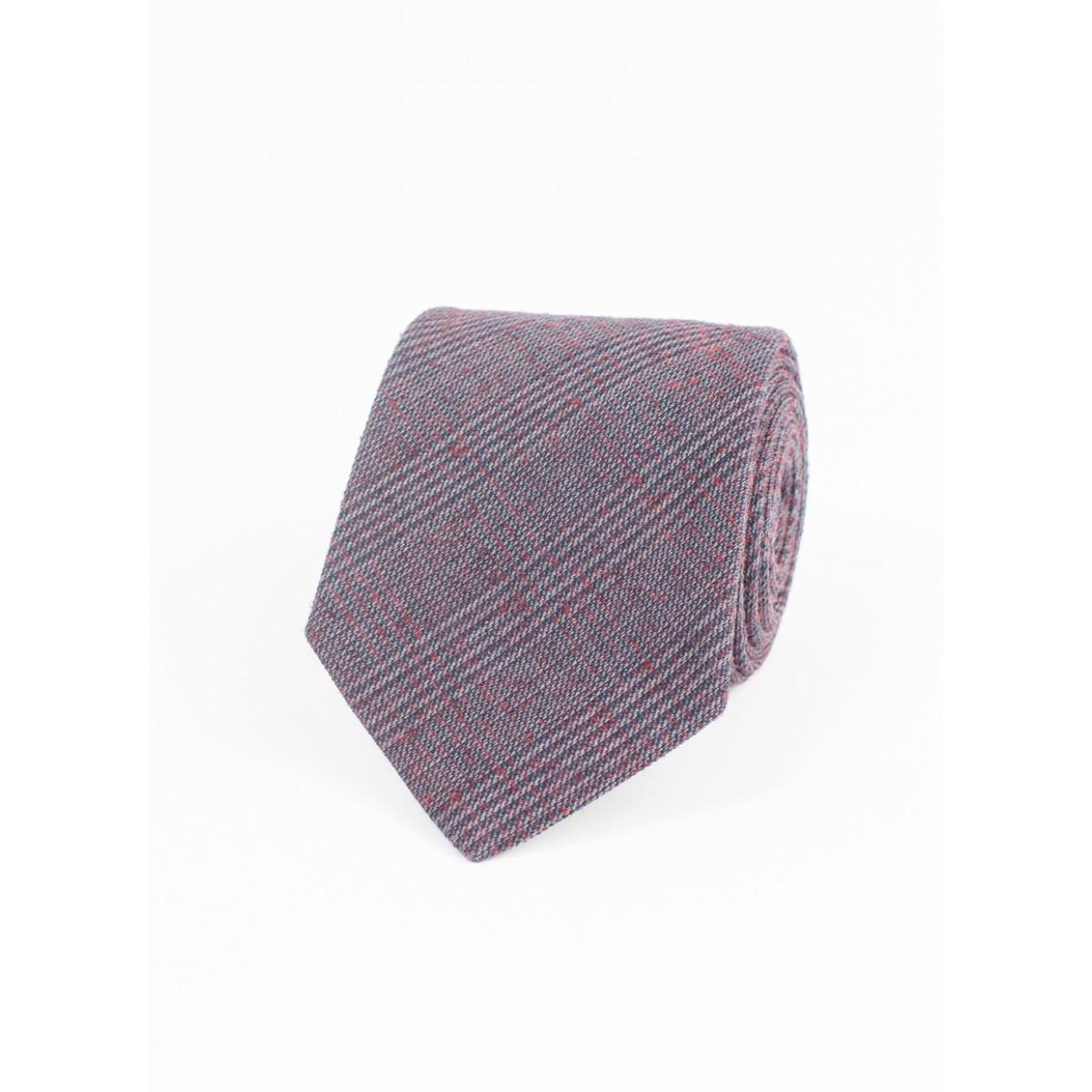 billy heirloom glen plaid tie in purple for lyst