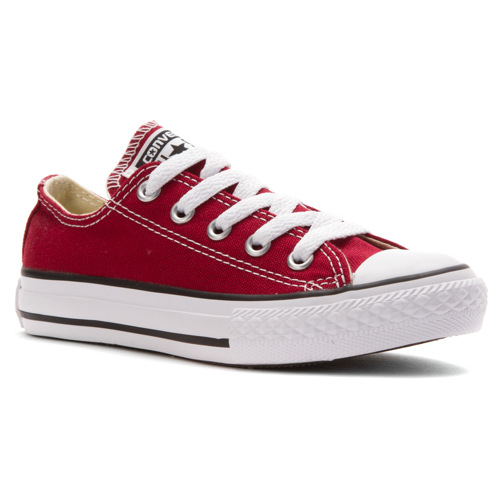 lyst converse chuck taylor low top sneaker in red
