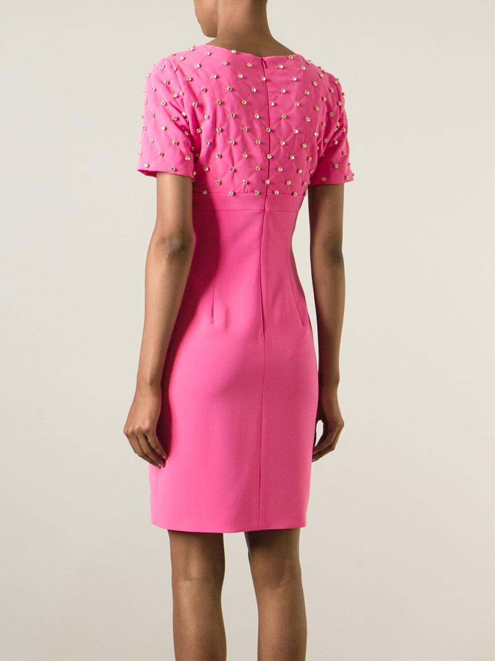 Moschino Embellished Dress Lyst
