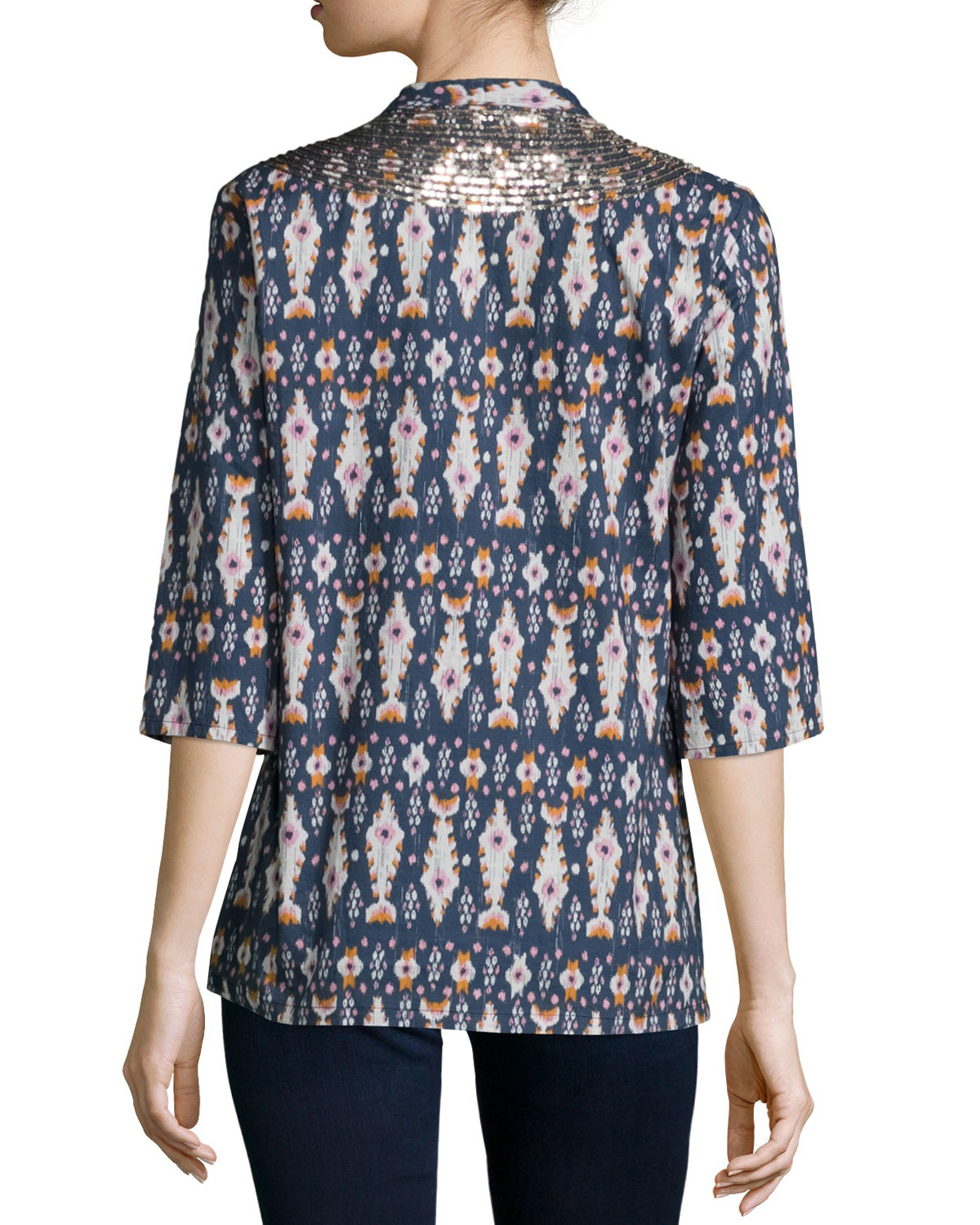 Isadora ikat-print cotton-blend blouse Figue Best Deals Sale Order Many Kinds Of  Low Shipping Cheap Online PuBJHn6sS3