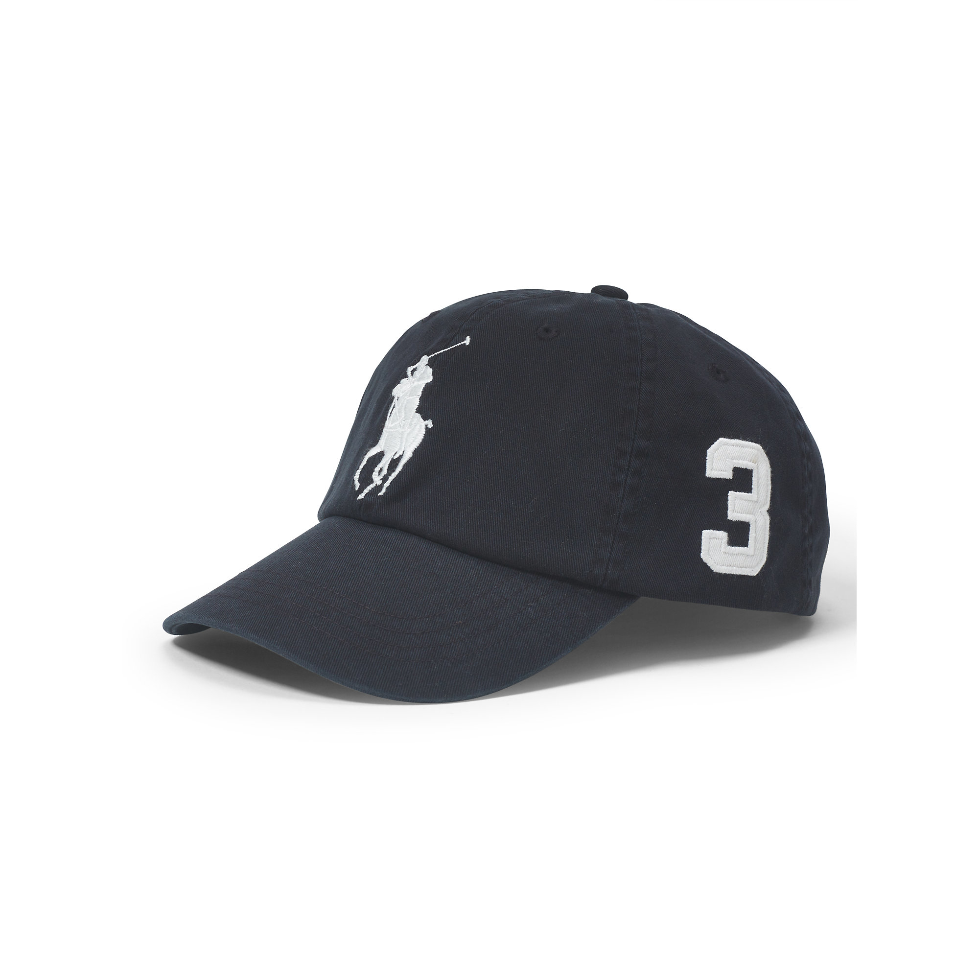 ... promo code for lyst polo ralph lauren big pony chino baseball cap in  black for men ... 66df3aea6775