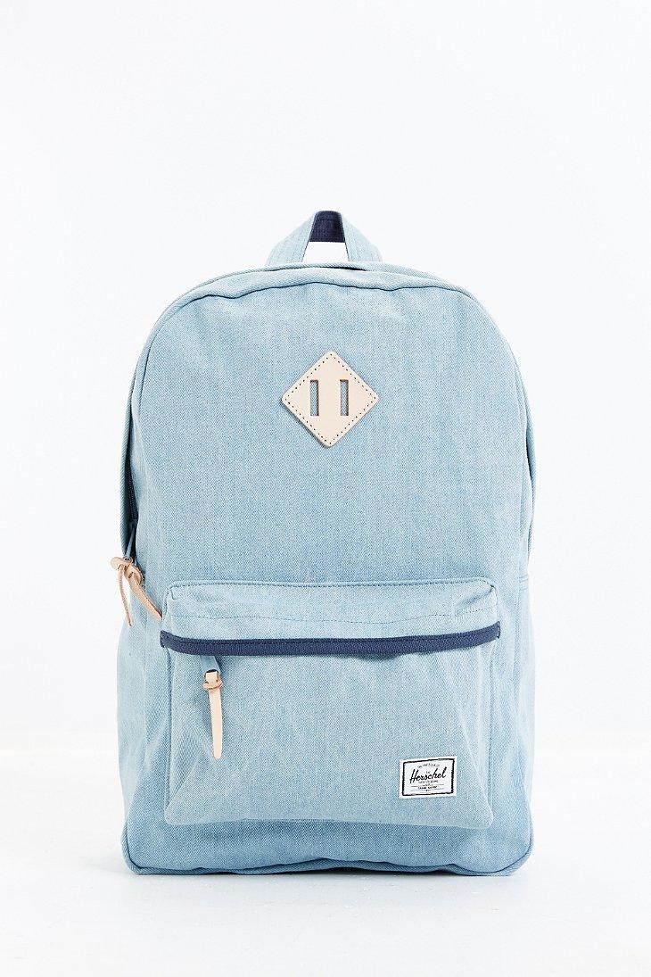 Herschel Supply Co  Blue Heritage Select Denim Backpack for men