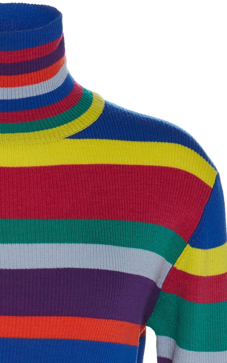 Lyst Mira Mikati Rainbow Striped Merino Turtleneck