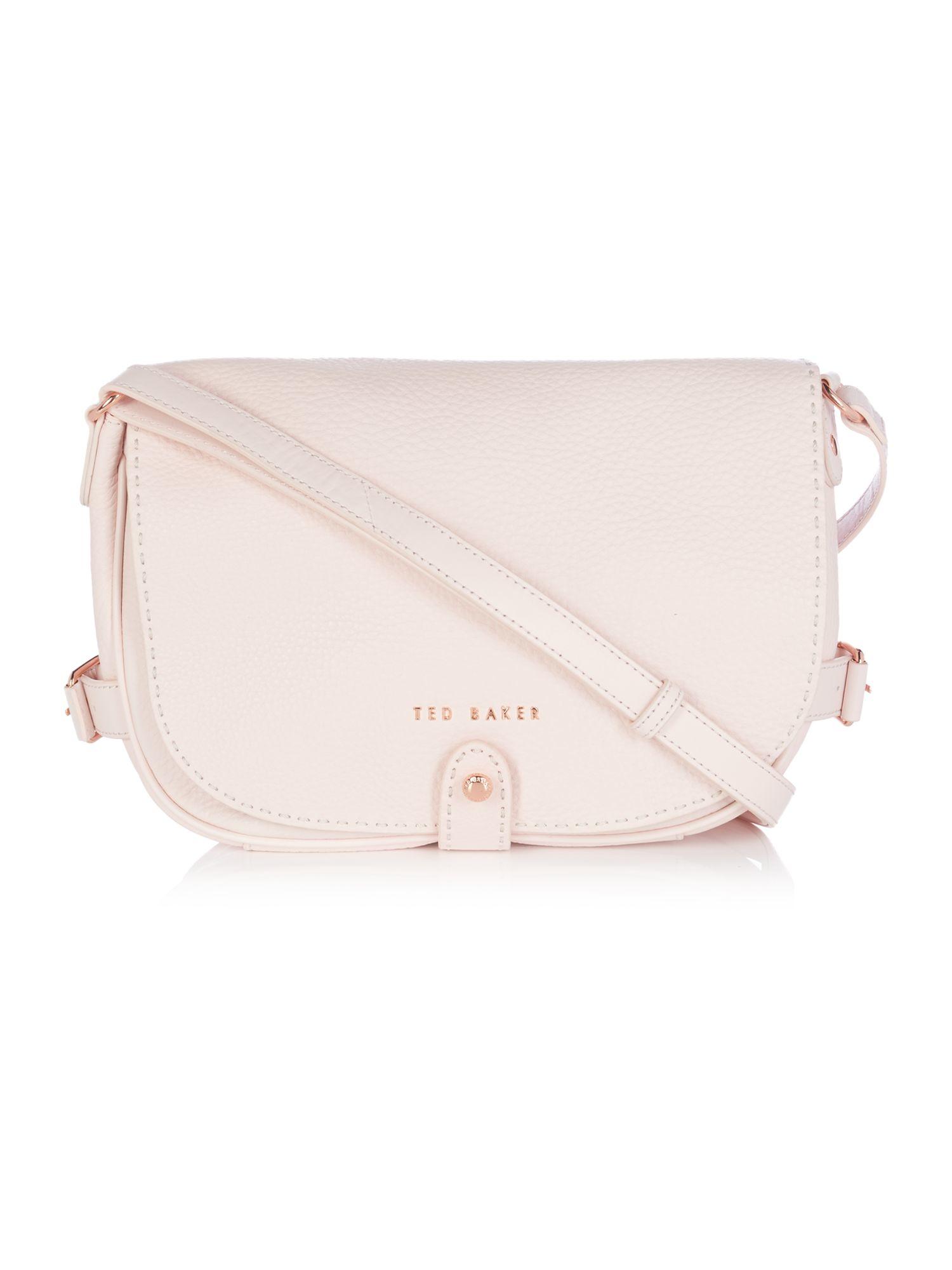 Ted baker Regan Light Pink Leather Shoulder Bag in Pink | Lyst