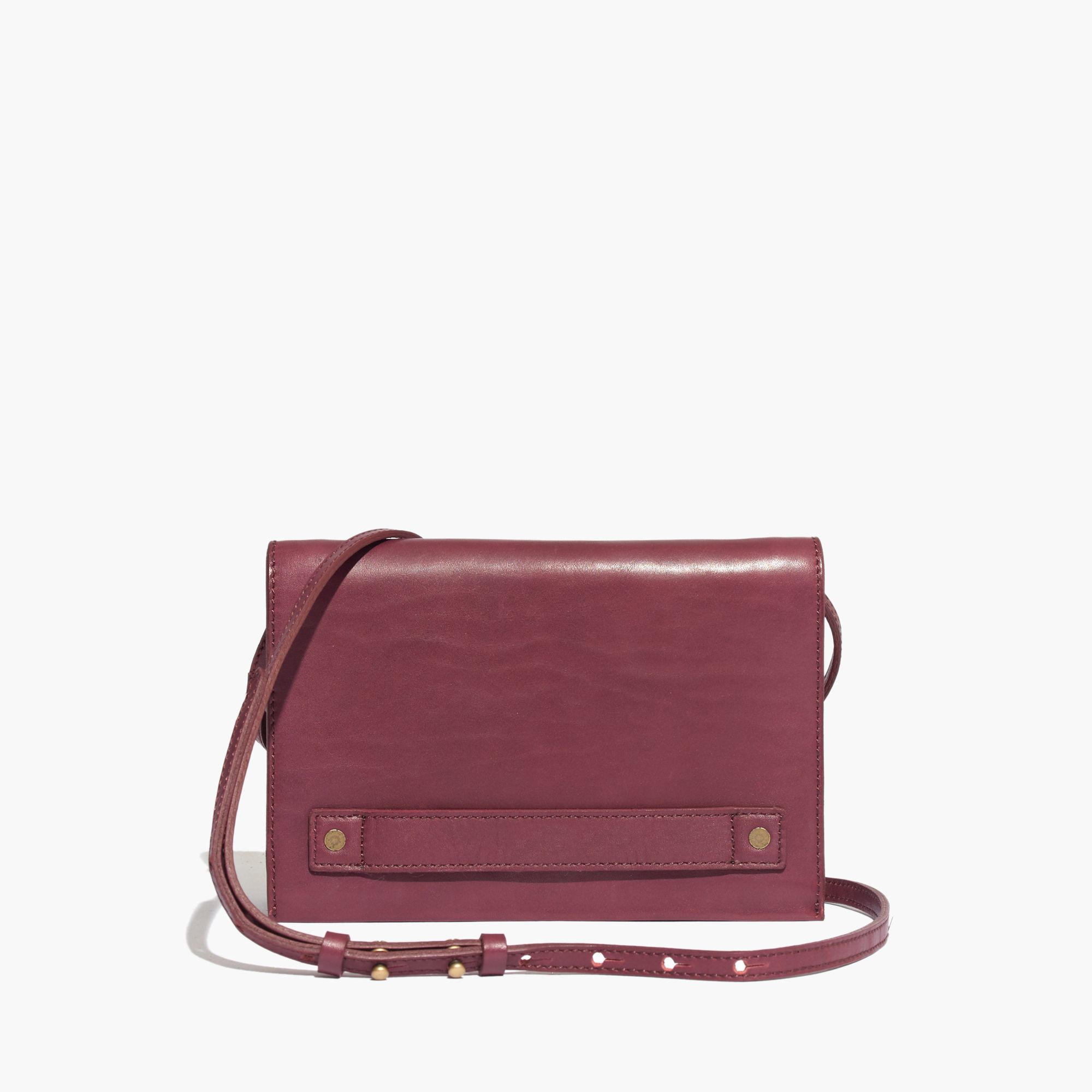 madewell the crossbody bag in cabernet