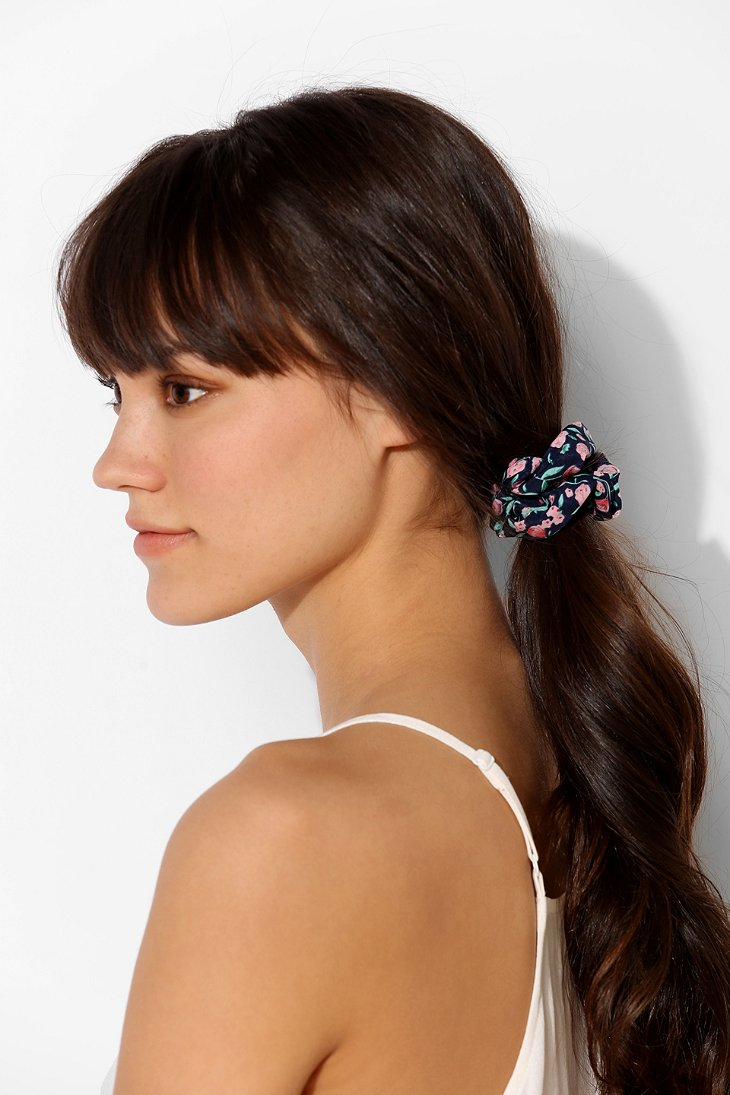Lyst Urban Outfitters Scrunchie Ponytail Holder In Blue