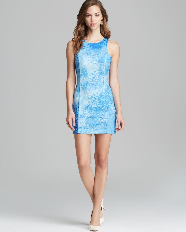 addison dress joilet ocean print in blue lyst