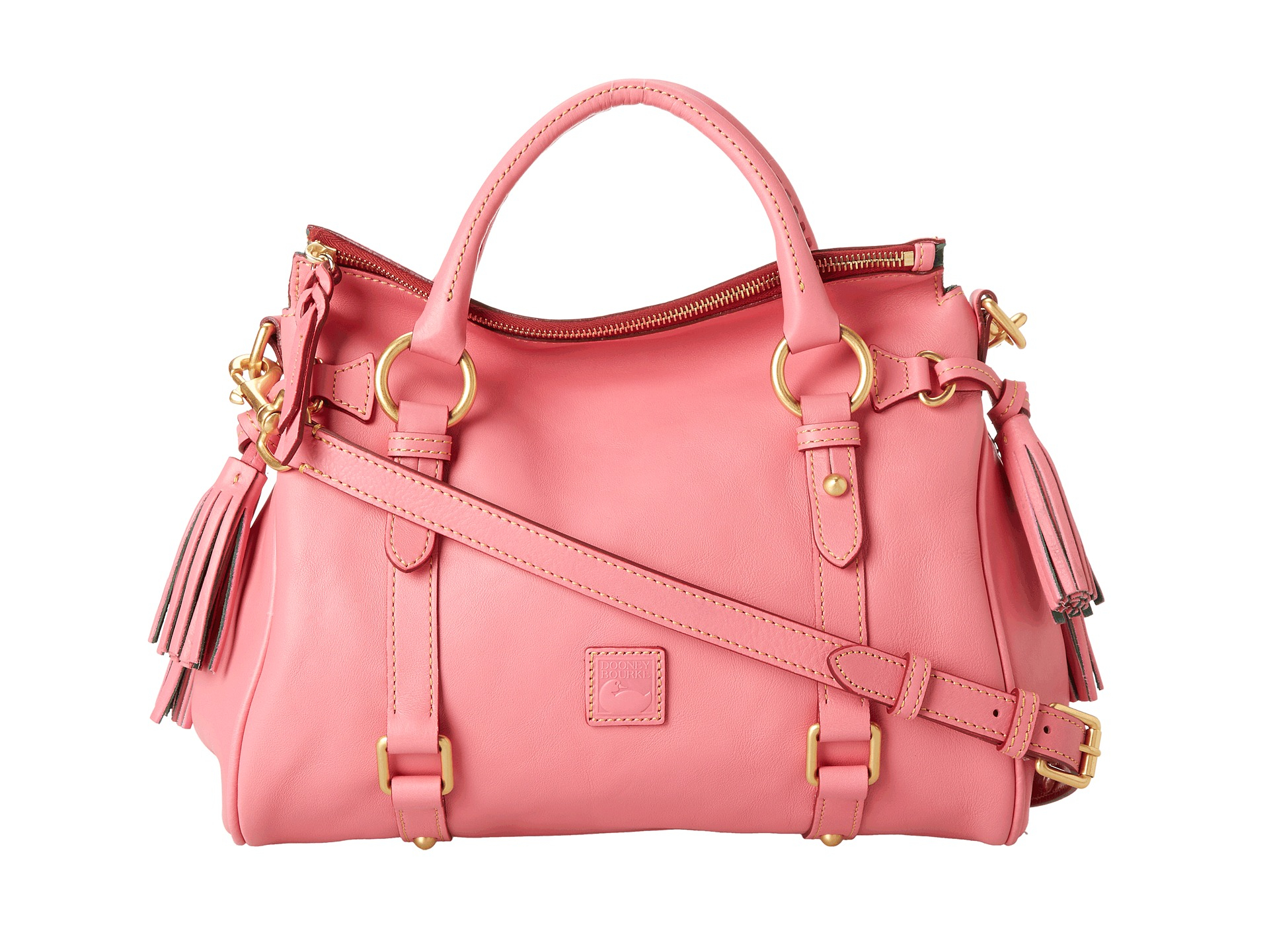 e60c6857d8a Lyst - Dooney   Bourke Florentine Small Satchel in Pink