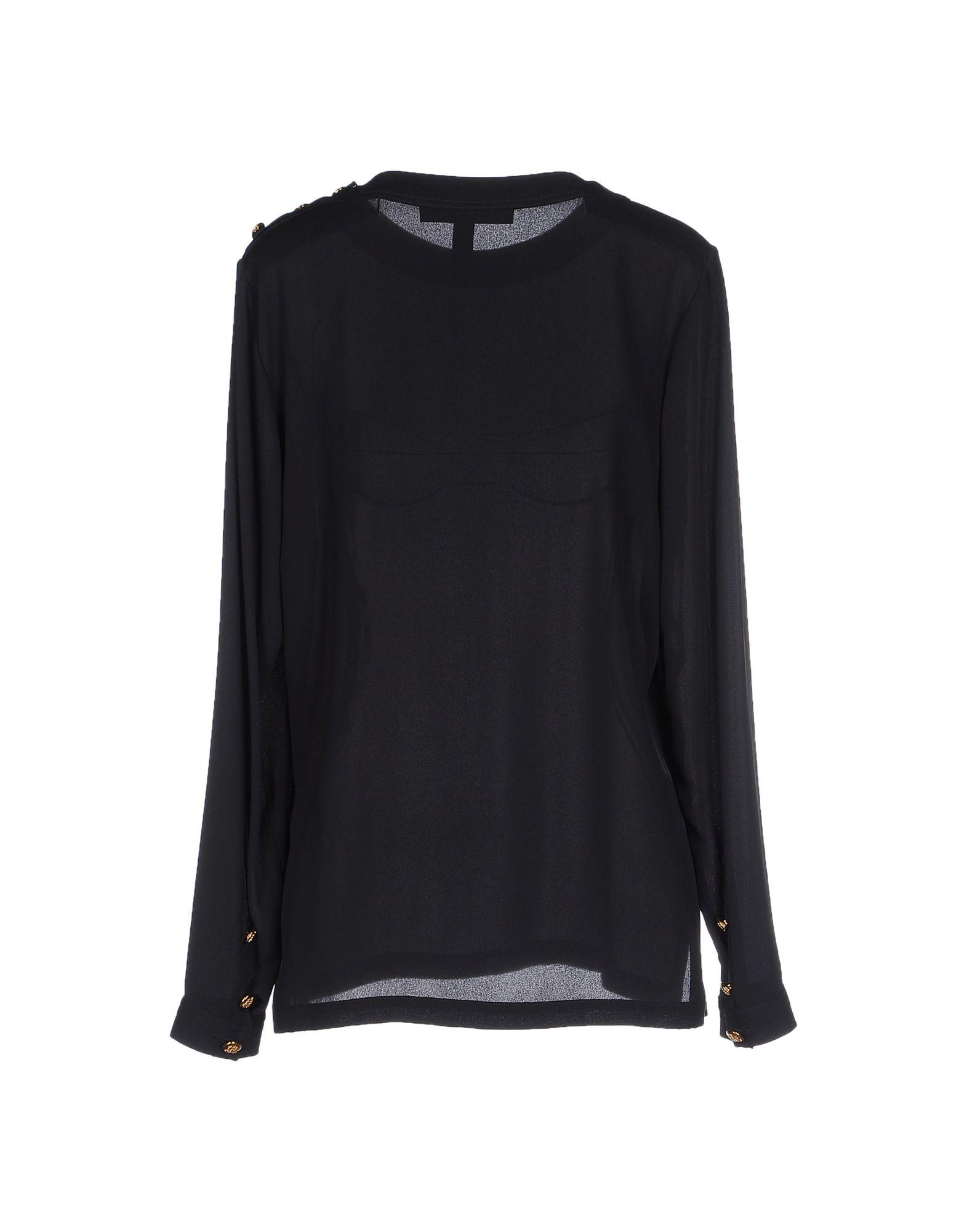 lyst ralph lauren black label blouse in blue. Black Bedroom Furniture Sets. Home Design Ideas