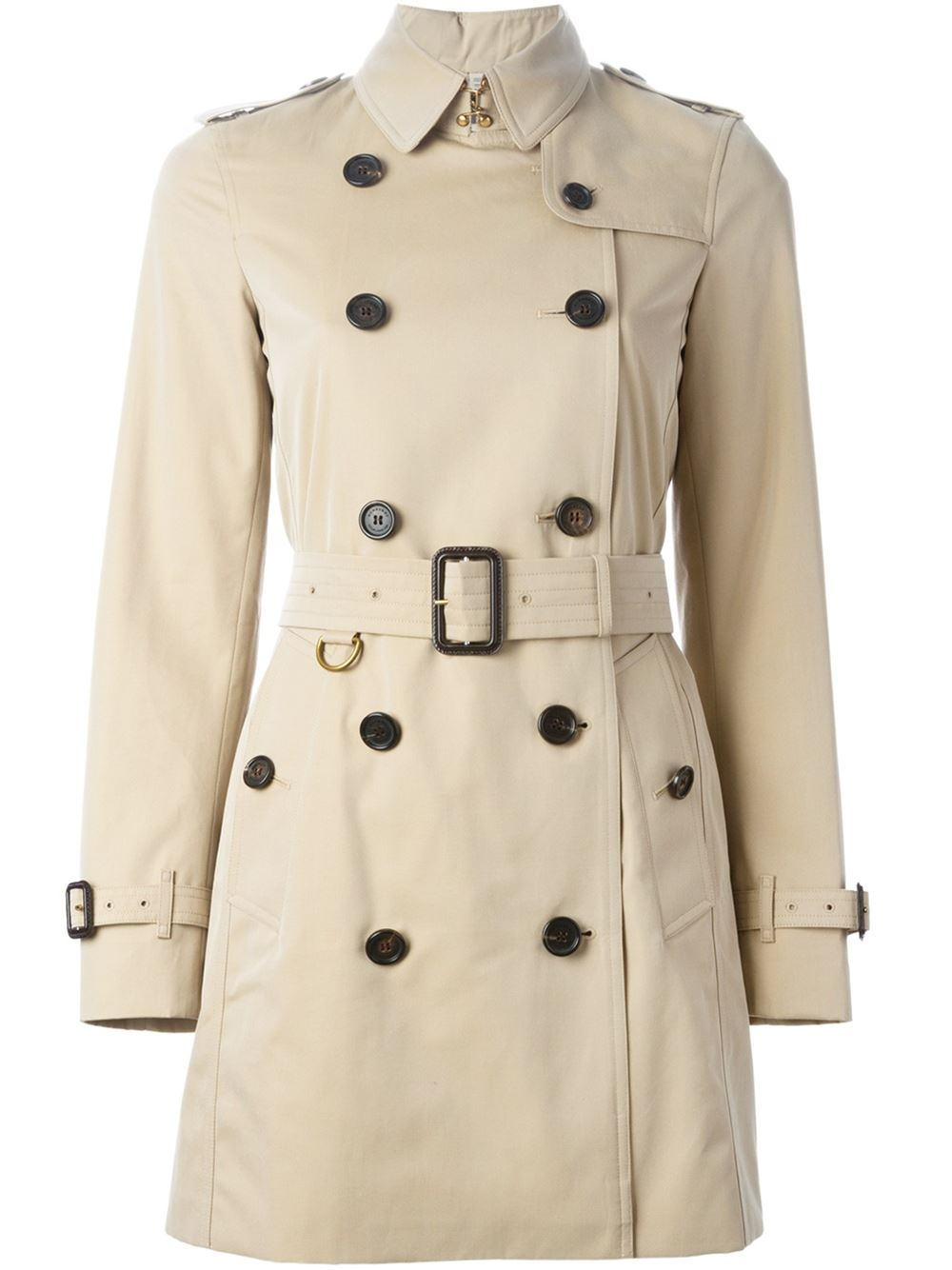burberry double breasted trench coat in beige nude neutrals lyst. Black Bedroom Furniture Sets. Home Design Ideas