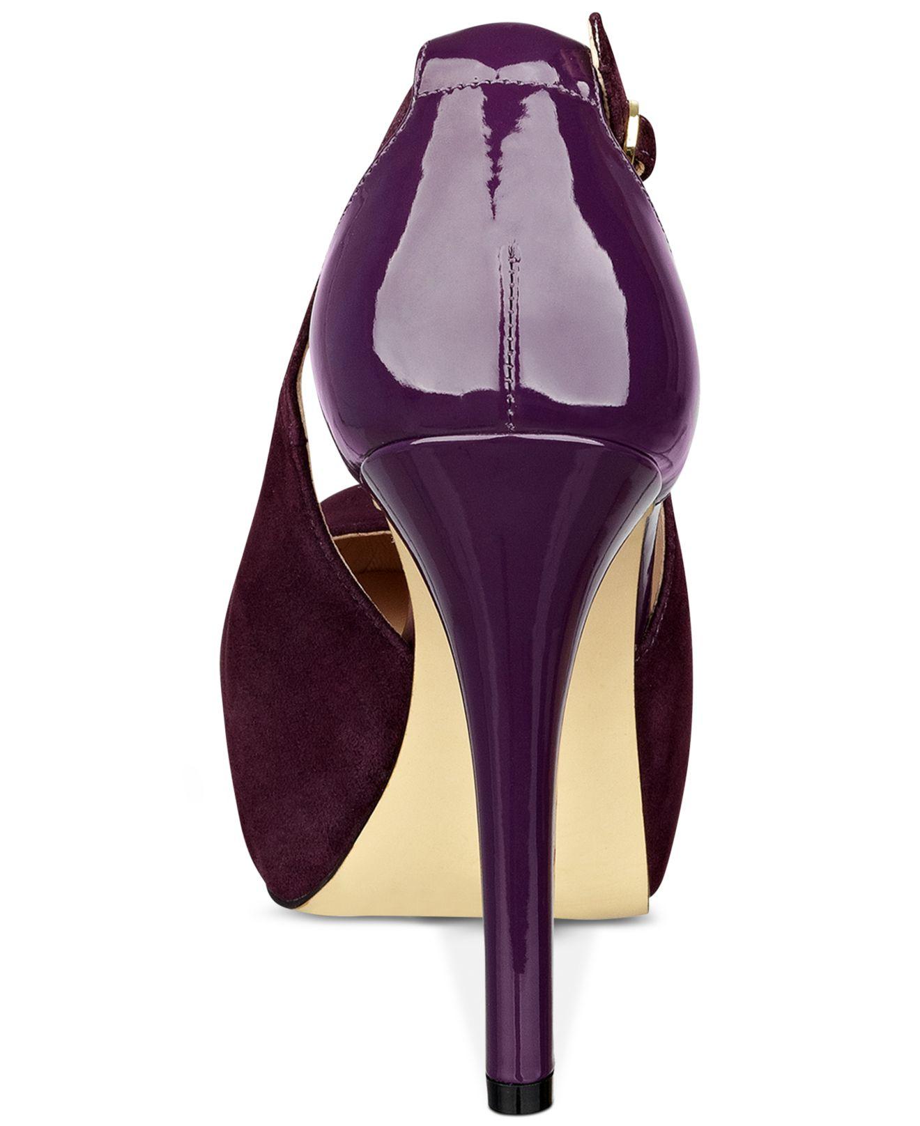 Lyst Guess Women S Jacoba Platform Pumps In Purple